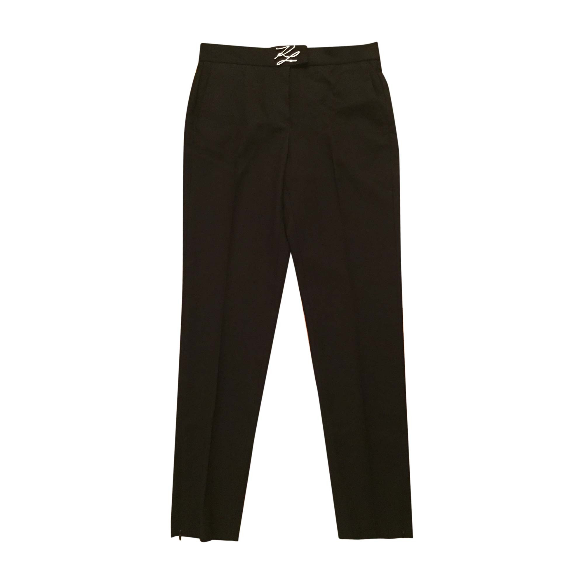 Pantalon slim, cigarette KARL LAGERFELD Noir