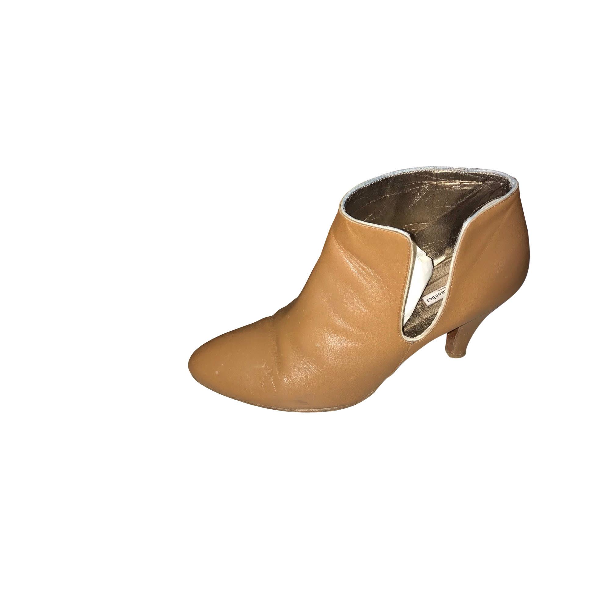 Bottines & low boots à talons PATRICIA BLANCHET Beige, camel