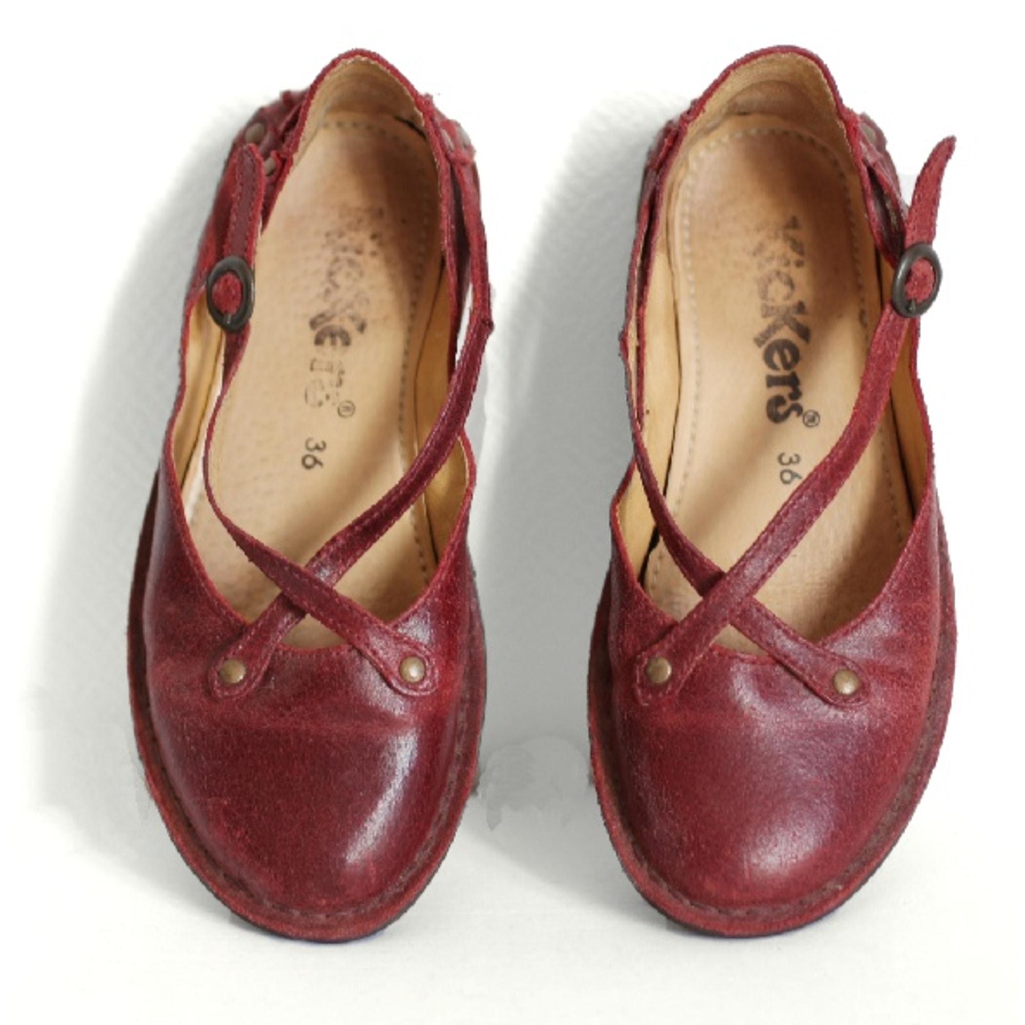 Ballet Flats KICKERS Red, burgundy