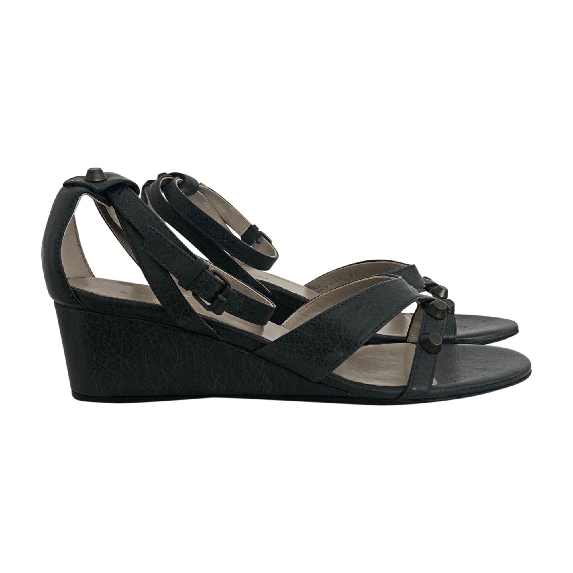 Sandales compensées BALENCIAGA Gris, anthracite