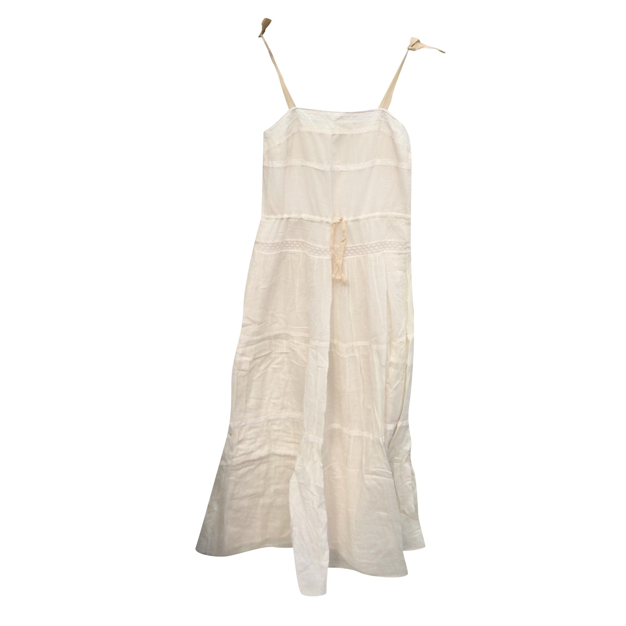 Robe longue SANDRO Blanc, blanc cassé, écru