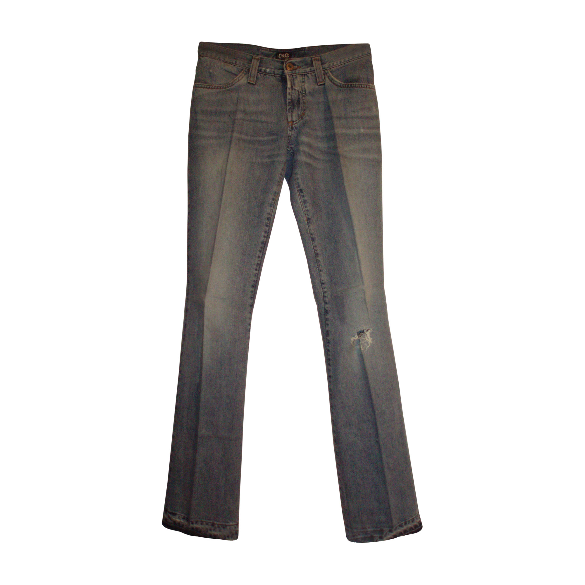 Jeans droit D&G Bleu, bleu marine, bleu turquoise