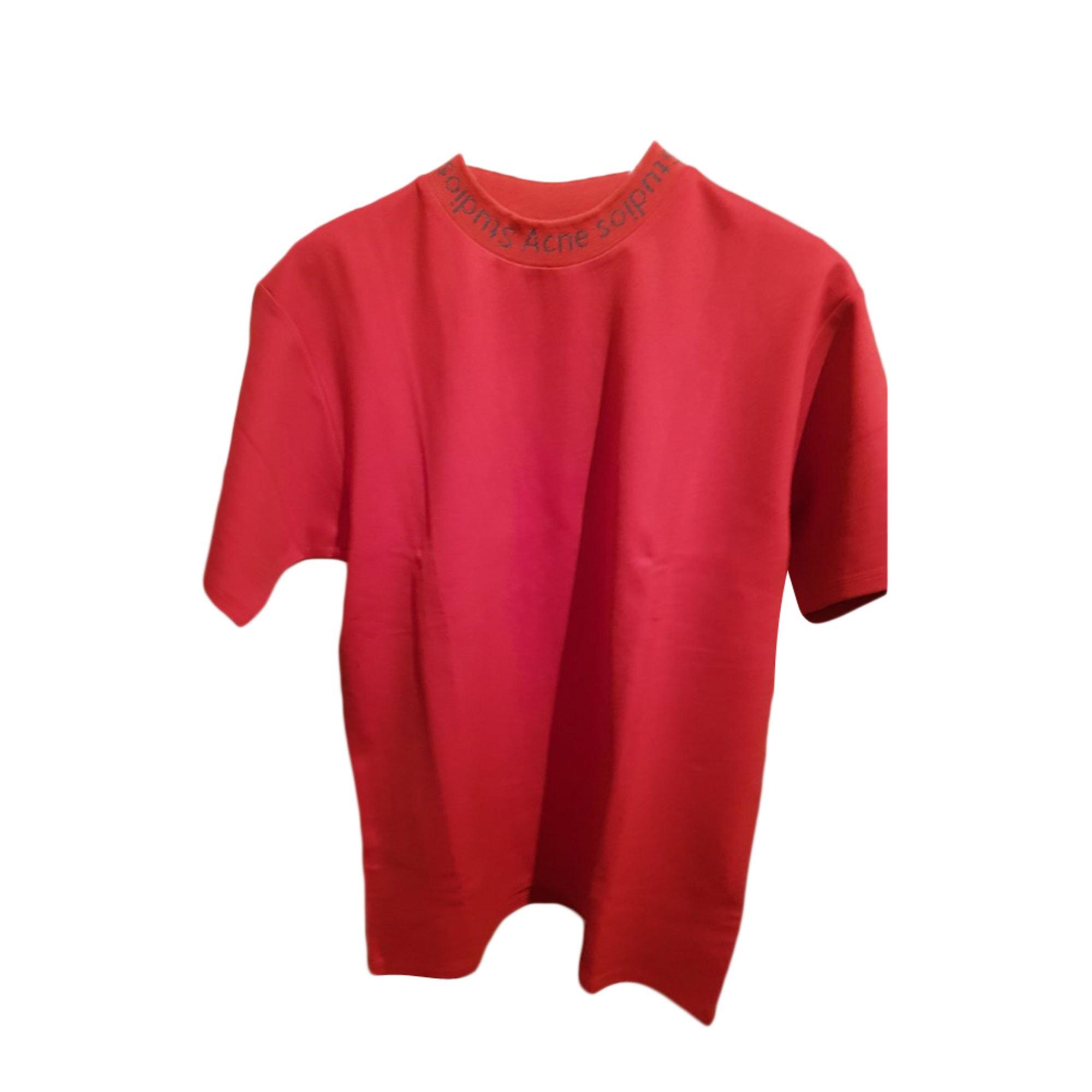 Tee-shirt ACNE Rouge, bordeaux