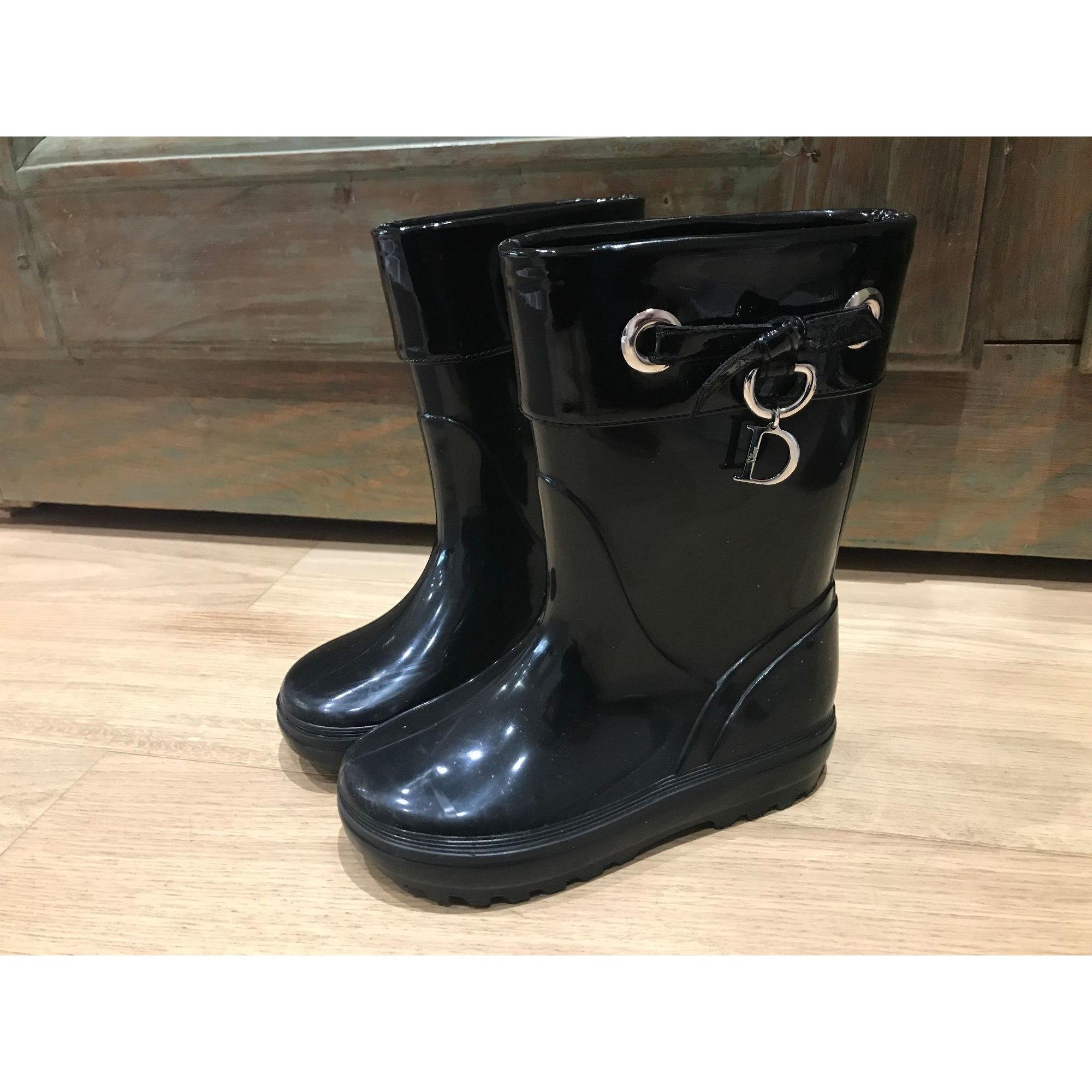Bottes de pluie DIOR caoutchouc noir 27