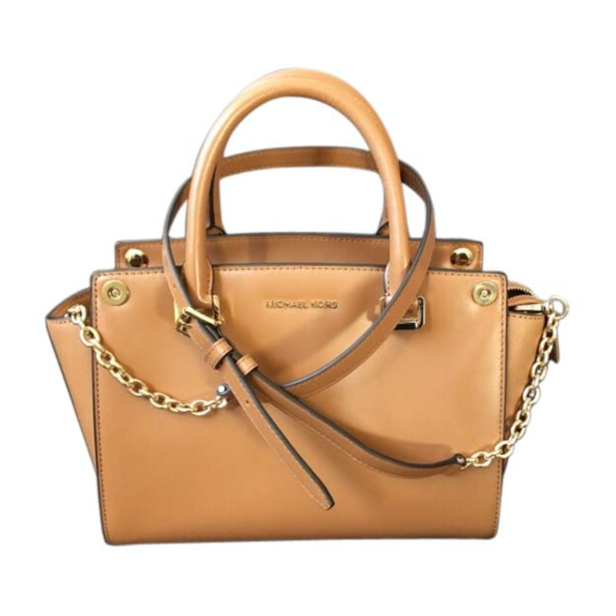 Leather Handbag MICHAEL KORS Beige, camel
