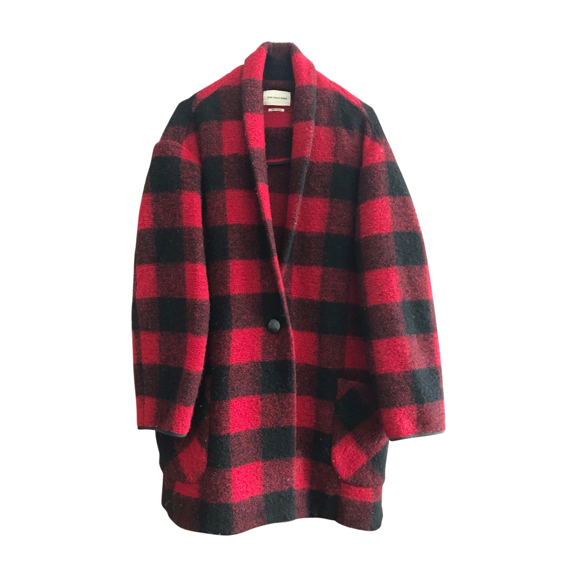Manteau ISABEL MARANT Rouge, bordeaux