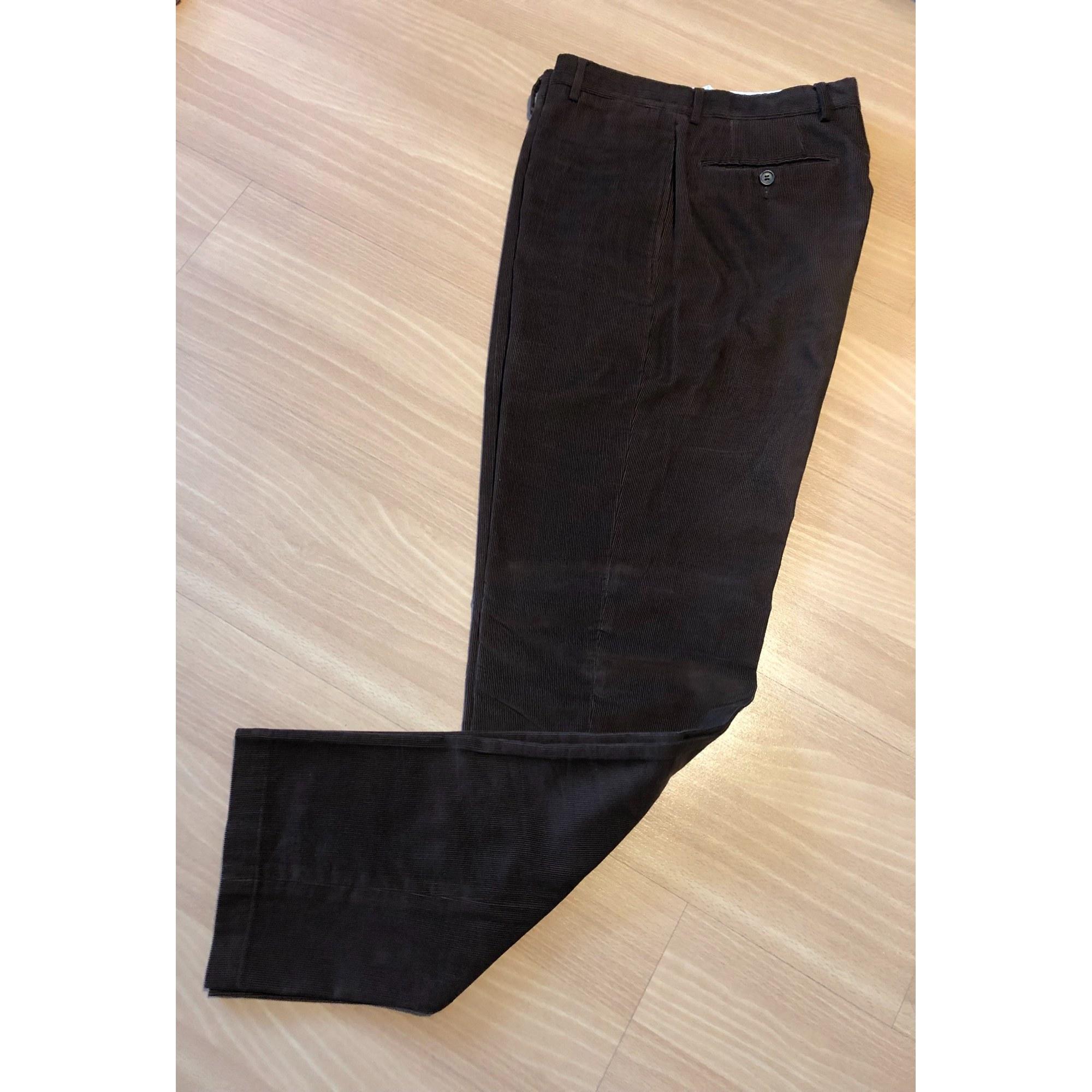 Pantalon droit FAÇONNABLE Marron