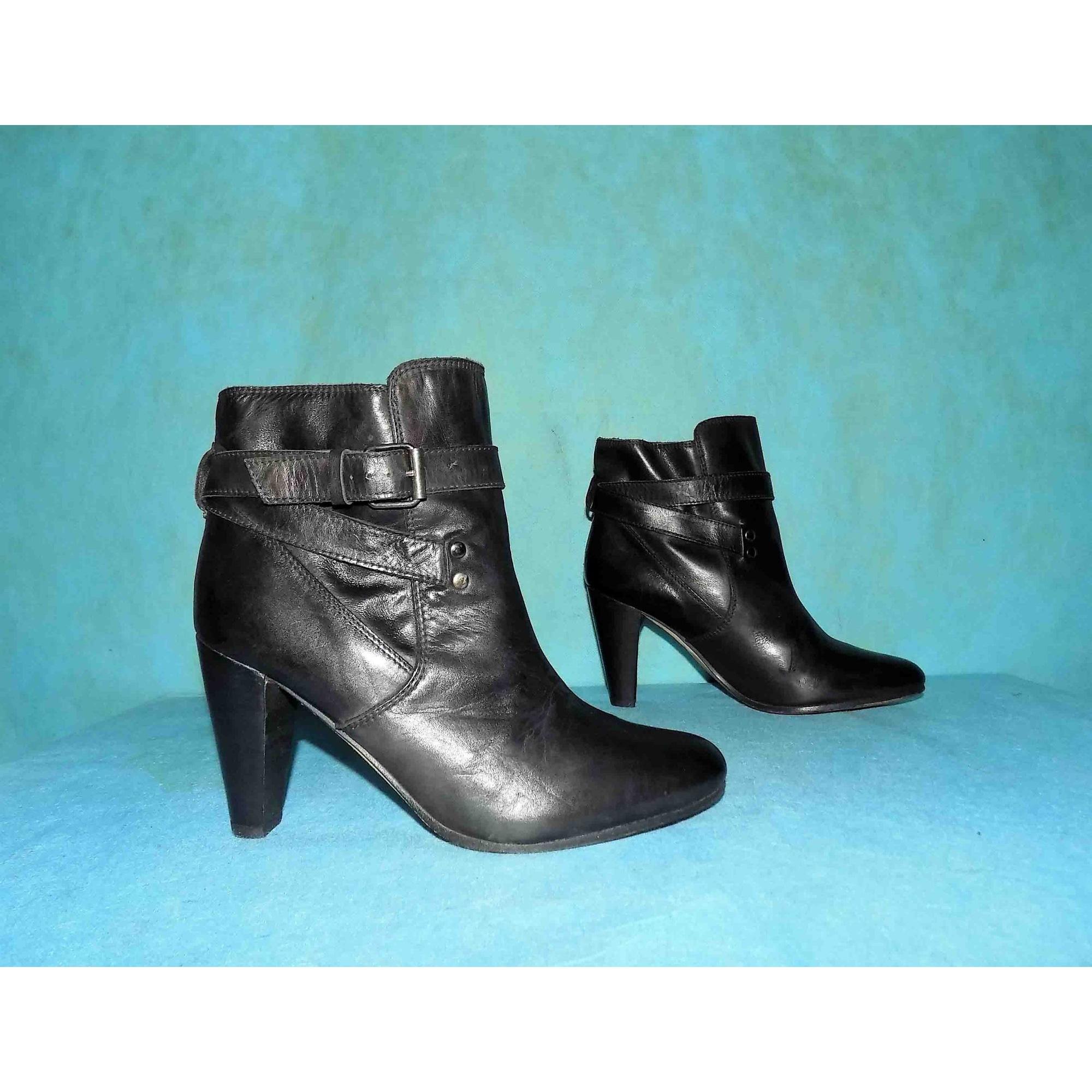 Bottines & low boots à talons IKKS Noir