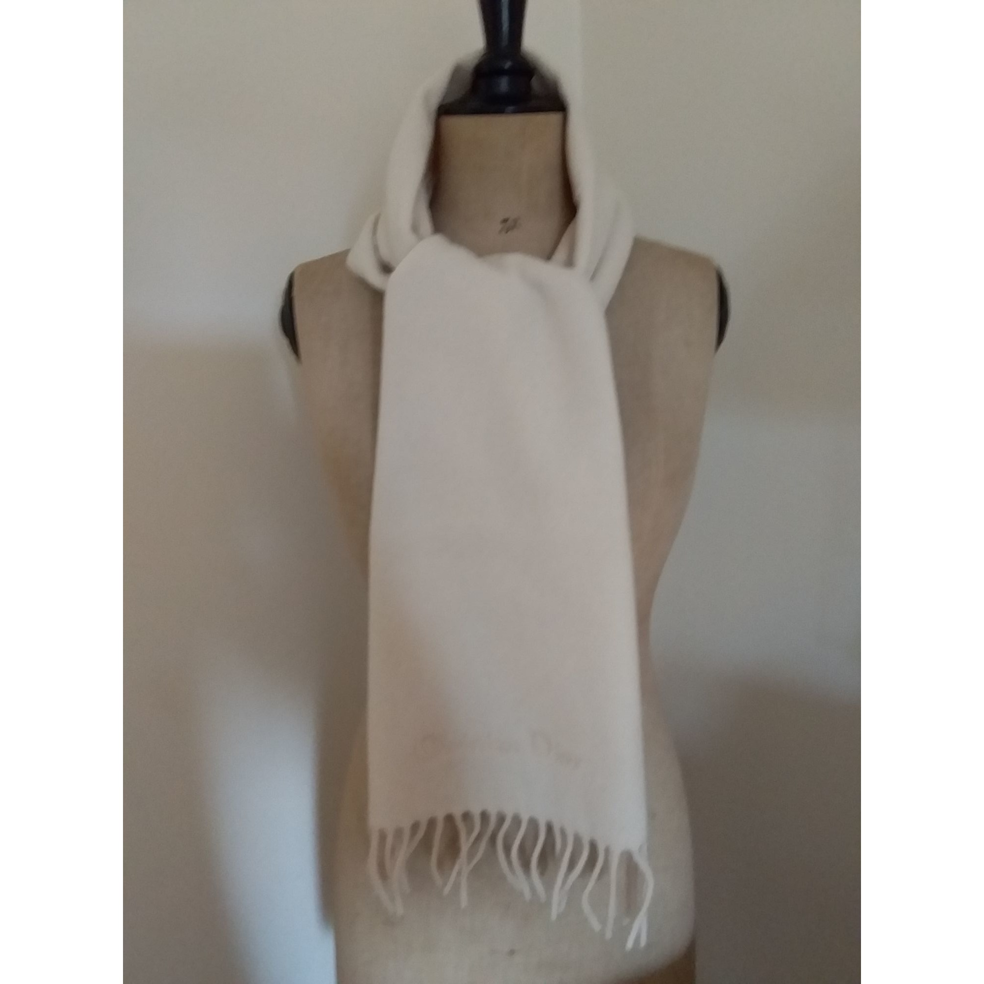 Schals DIOR Weiß, elfenbeinfarben