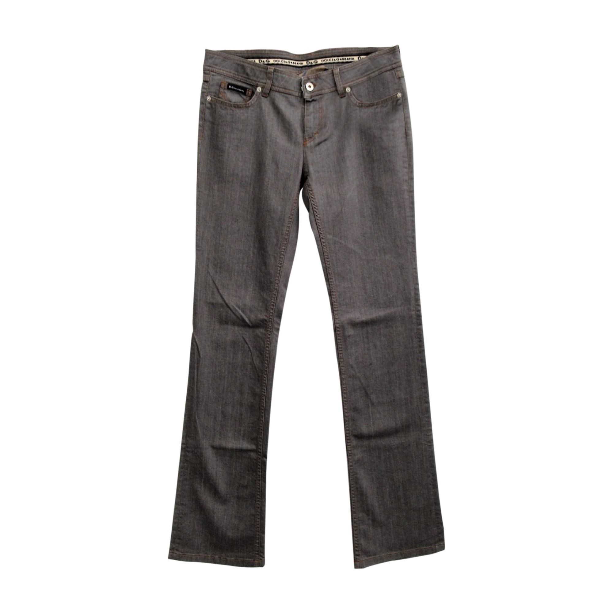 Jeans droit D&G Gris, anthracite