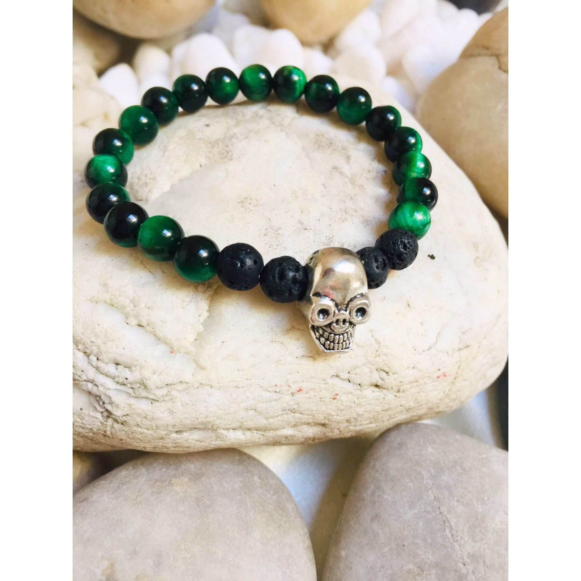 Bracelet MC ART&CREATIONS perle vert