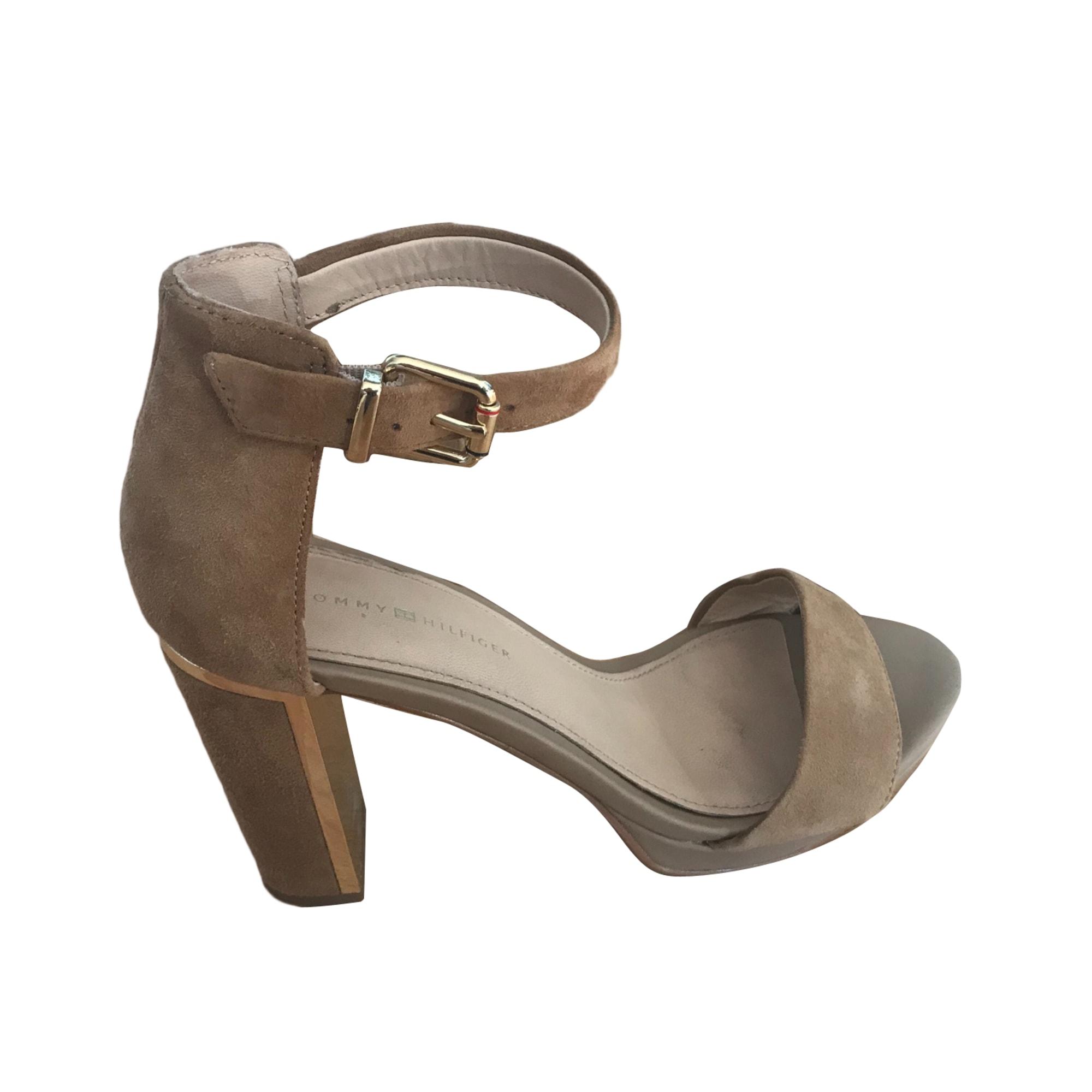 Sandales à talons TOMMY HILFIGER Beige, camel