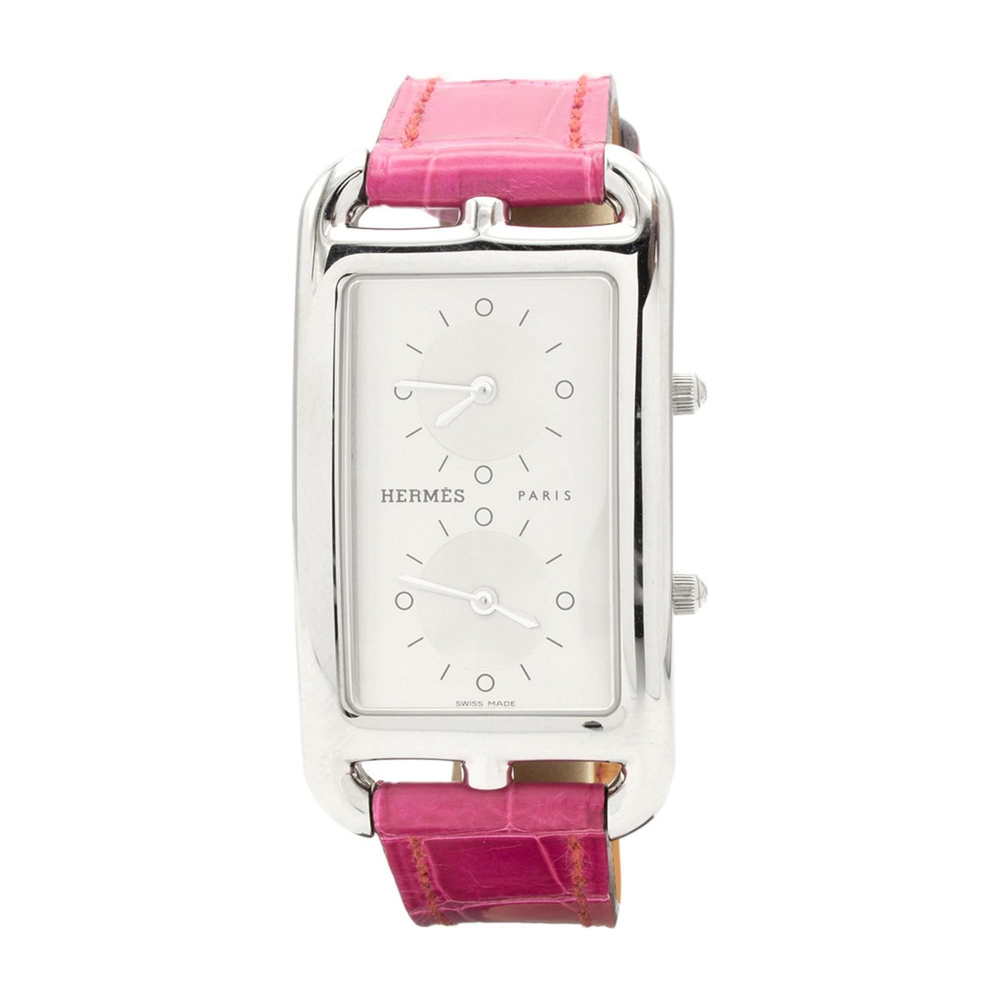 Wrist Watch HERMÈS Cape Cod Pink, fuchsia, light pink