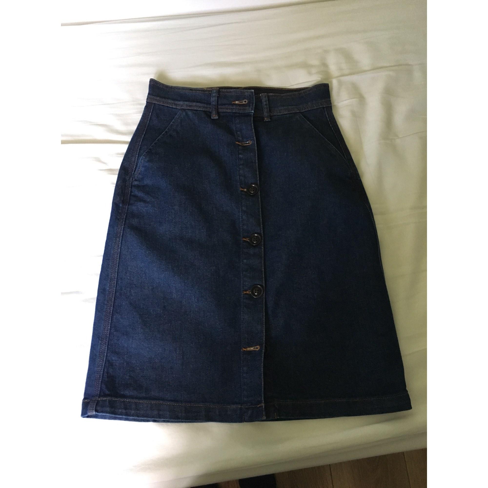 Jupe en jean SOEUR Bleu, bleu marine, bleu turquoise