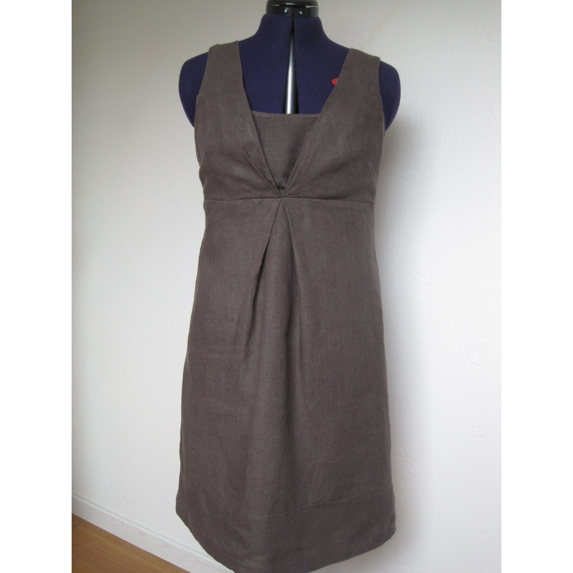 Robe mi-longue CAROLL Marron
