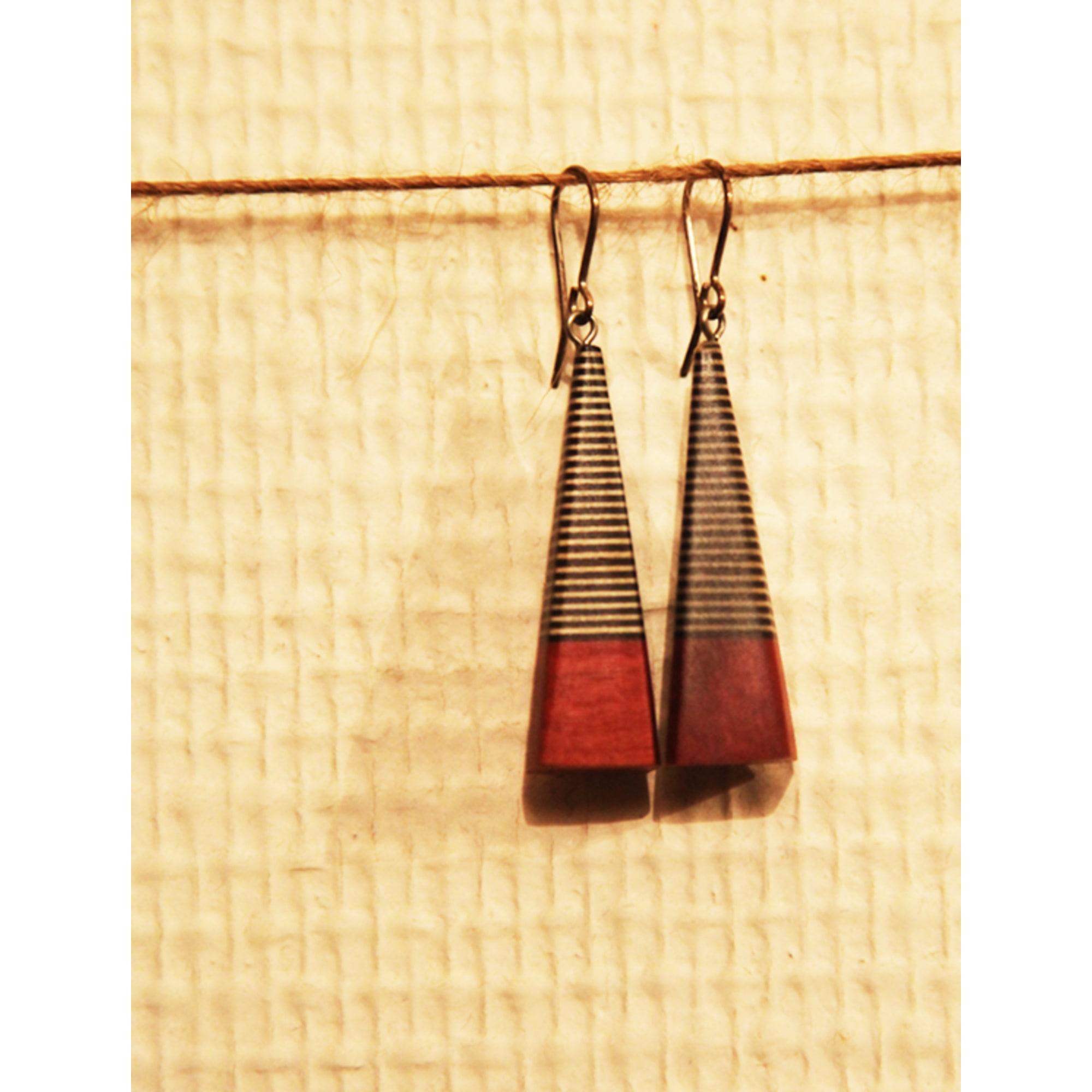 1fdfe206b4f7 Boucles d oreille GEORGES LARONDELLE roux vendu par Séraphine 298883 ...