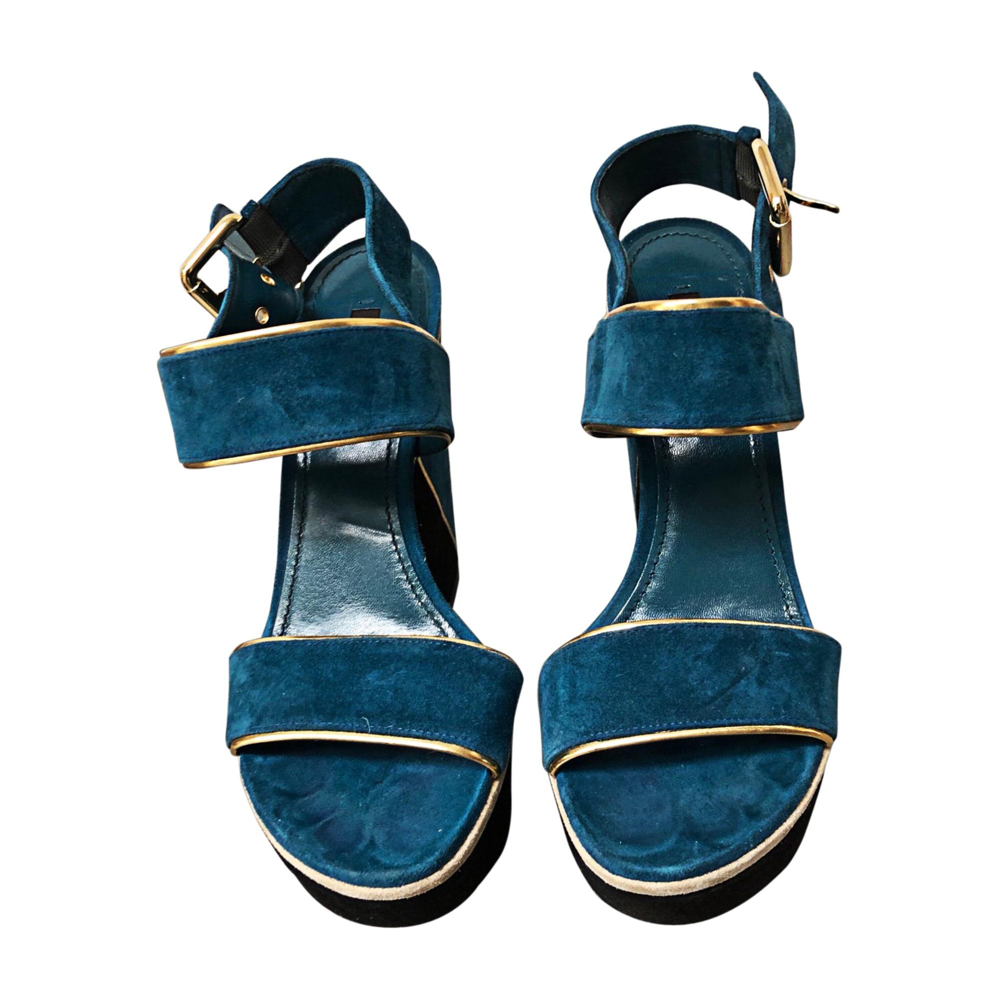 Plateausandalette LOUIS VUITTON Blau, marineblau, türkisblau