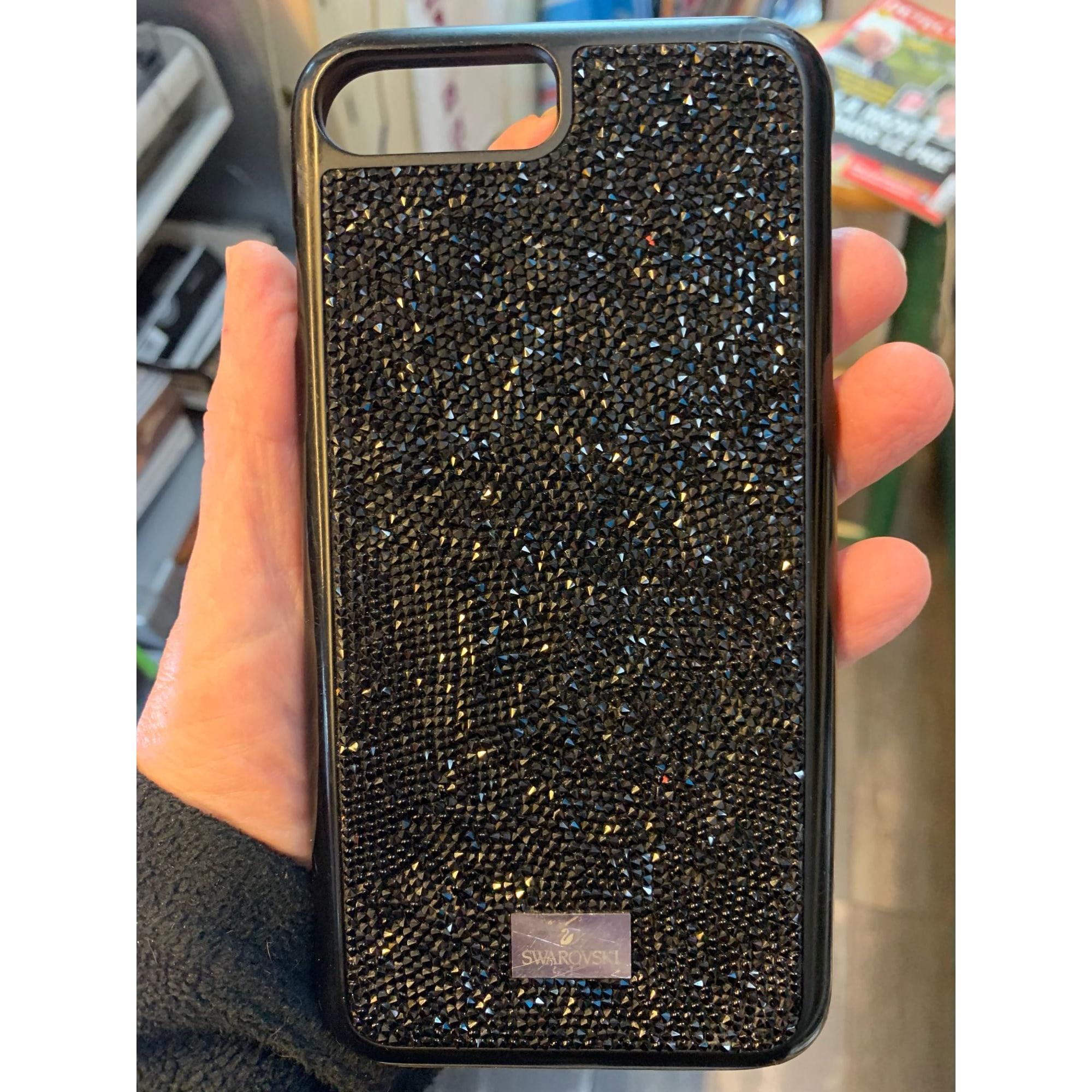 Bijou de téléphone SWAROVSKI plastique noir