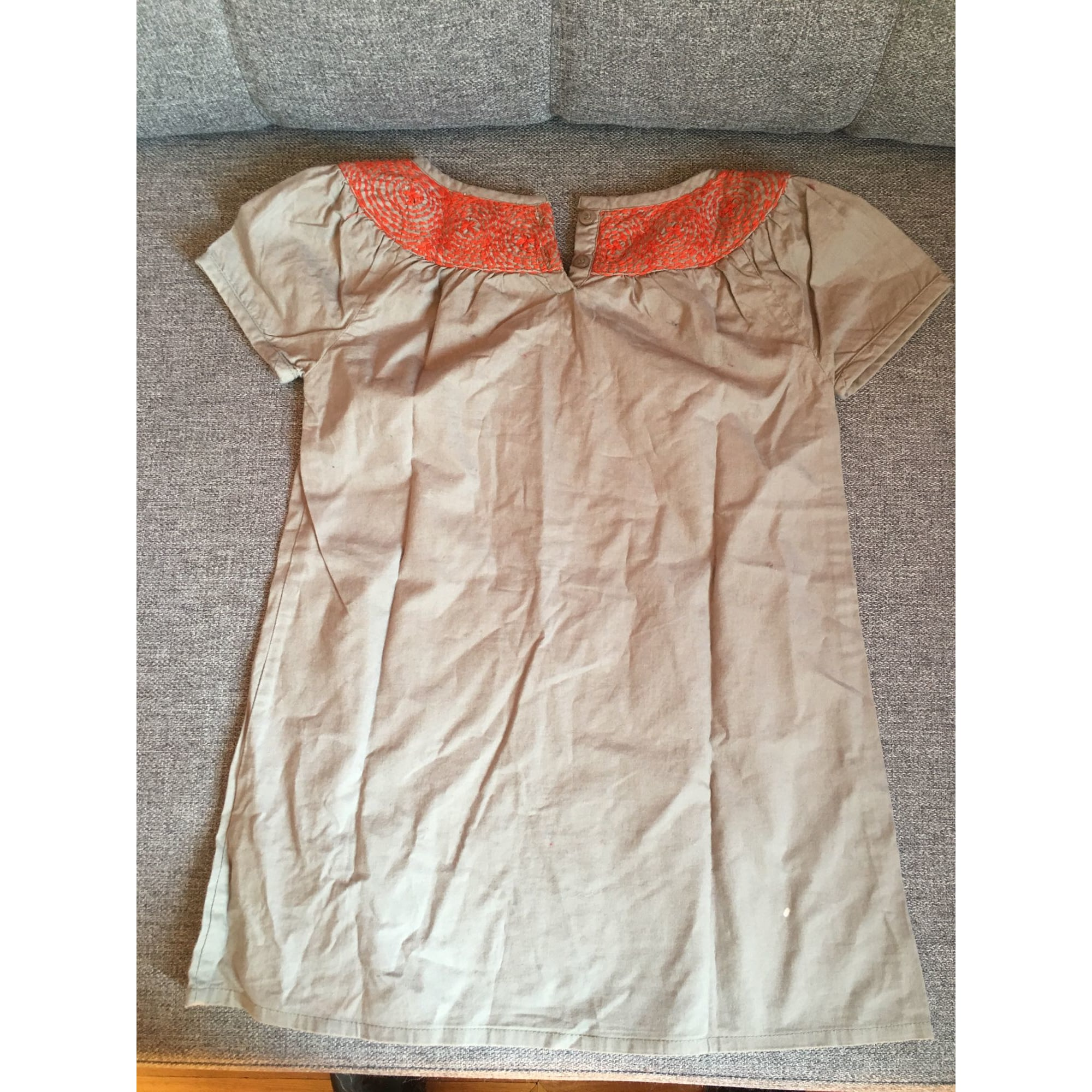 Robe C DE C BY CORDELIA DE CASTELLANE coton beige 3-4 ans
