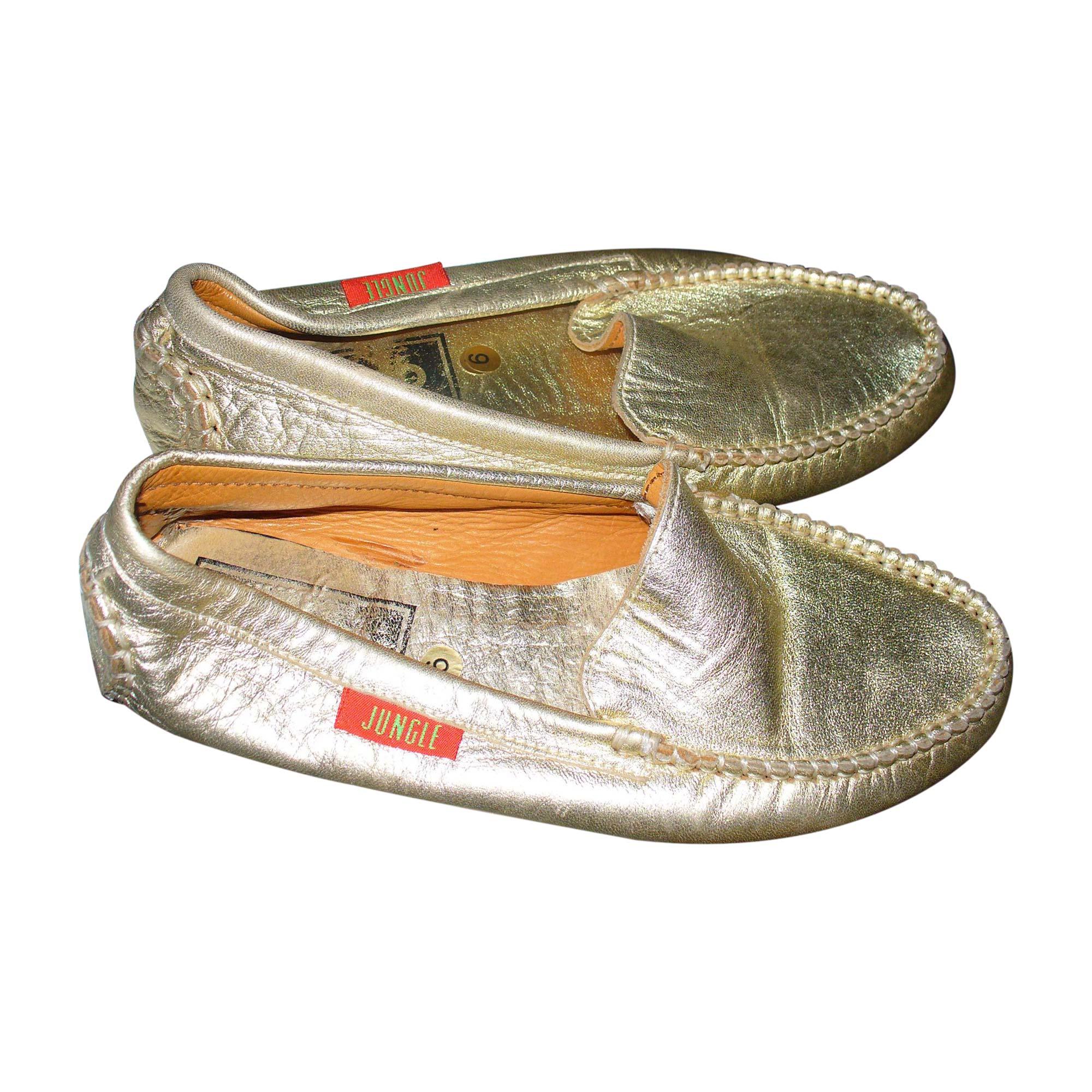 Loafers KENZO Golden, bronze, copper