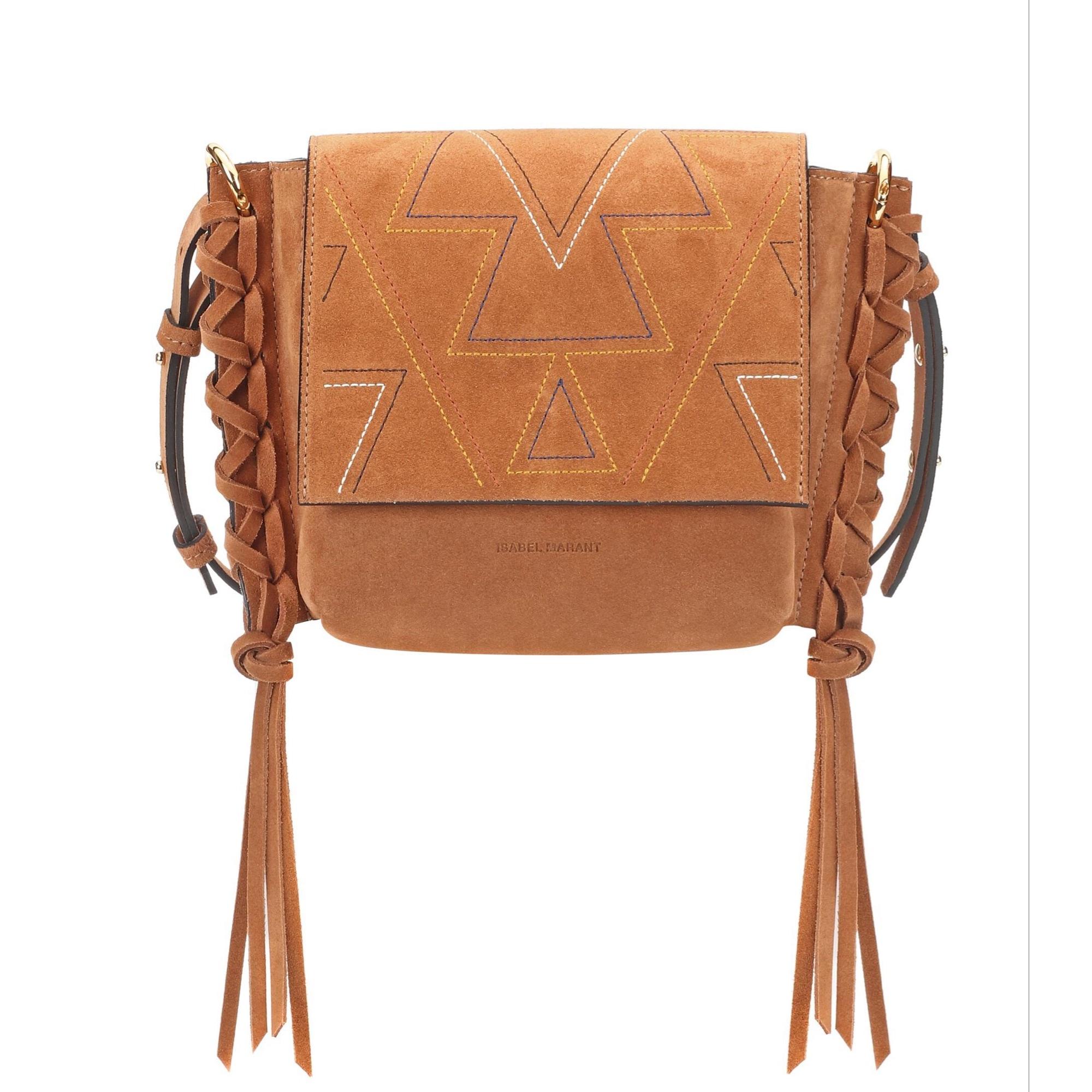 Non-Leather Handbag ISABEL MARANT Beige, camel