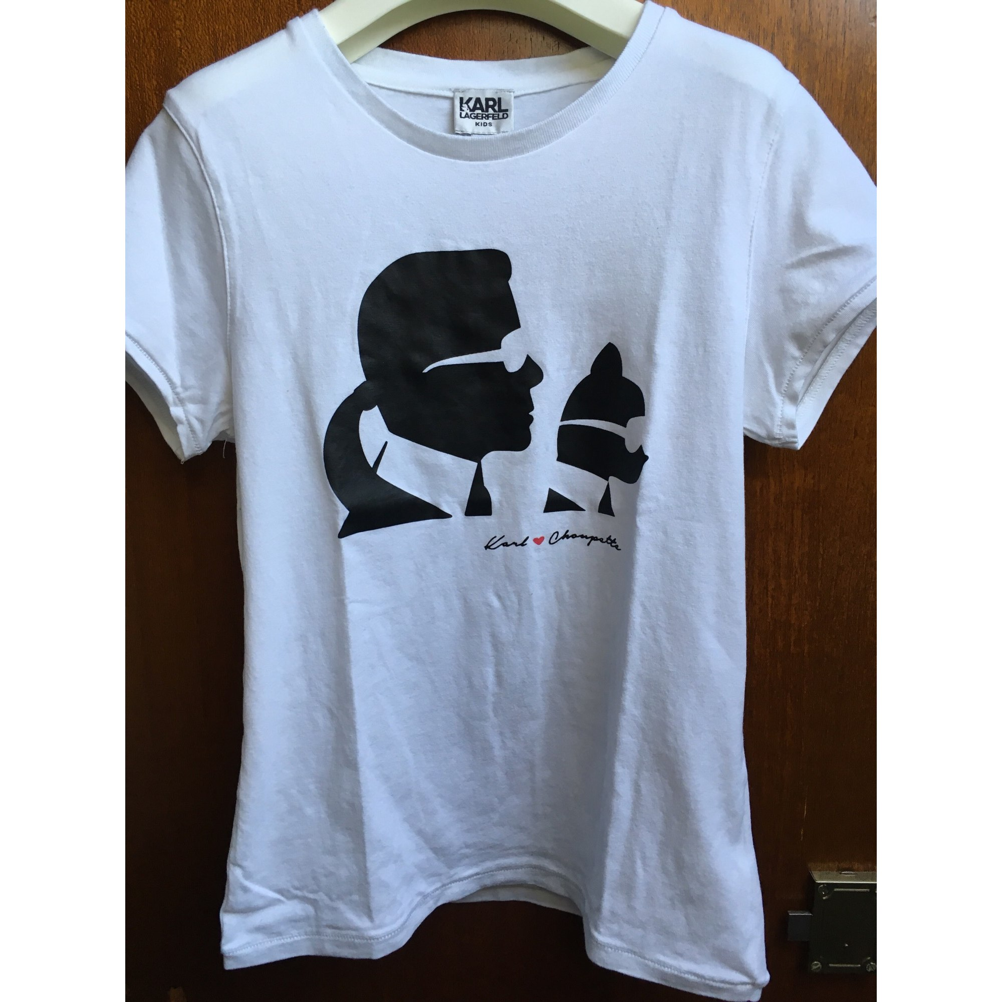 Top, Tee-shirt KARL LAGERFELD coton blanc 11-12 ans