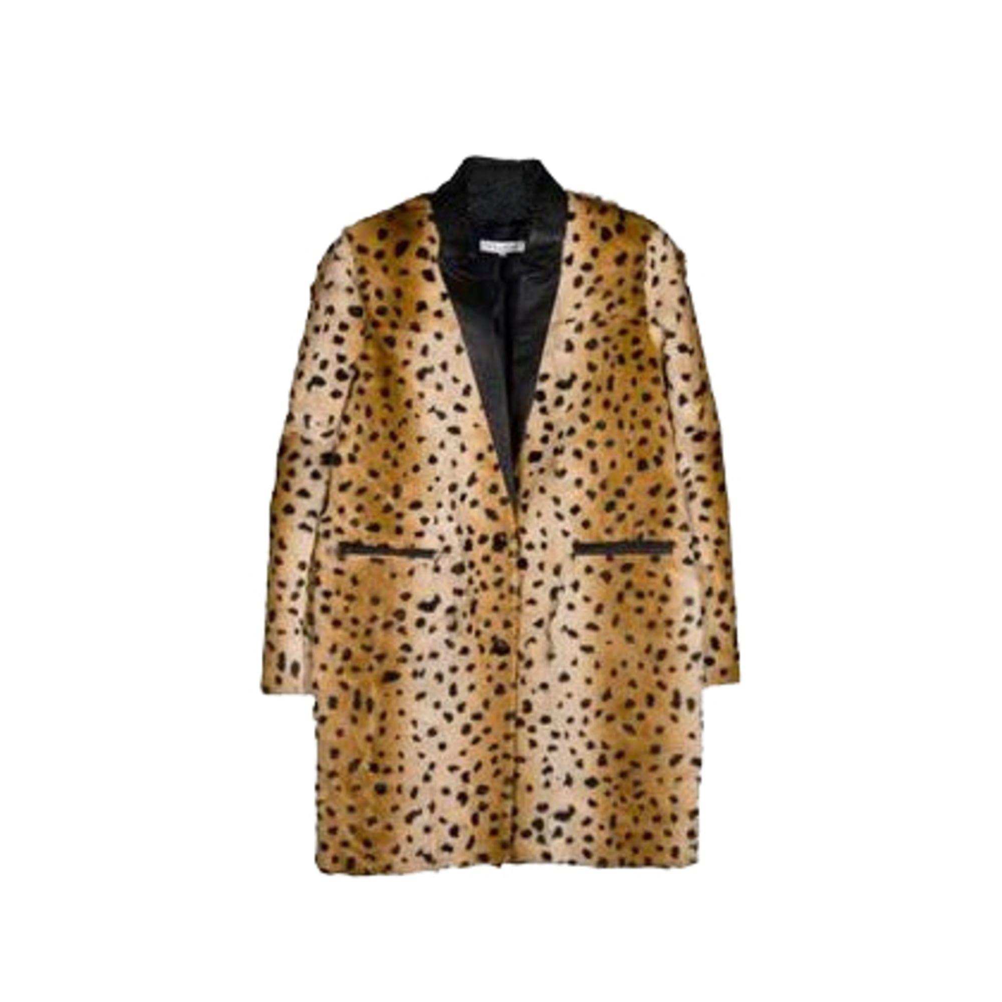 5a5b41041cb2 Manteau en cuir SANDRO Imprimés animaliers