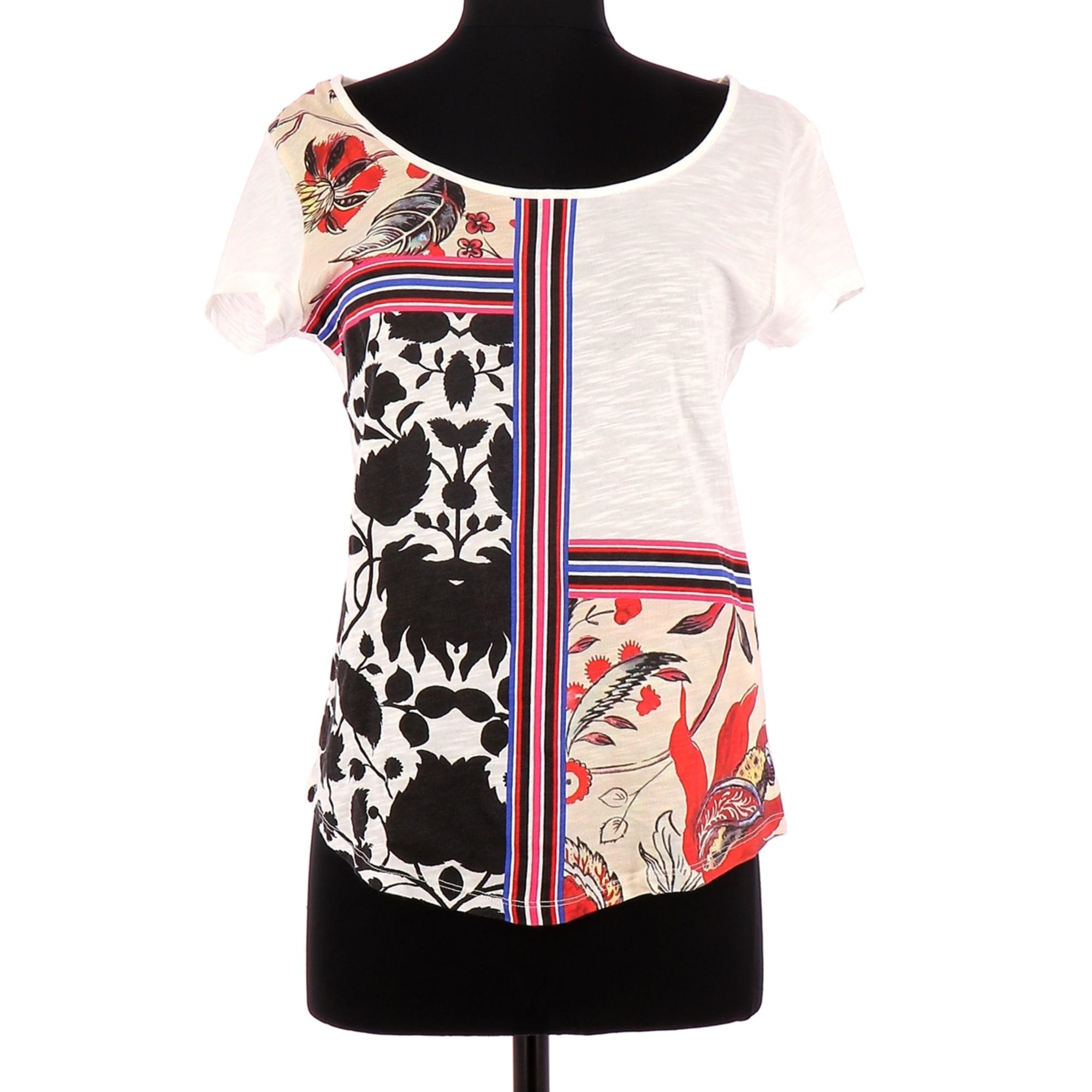 Top, tee-shirt DESIGUAL 36 (S, T1) blanc