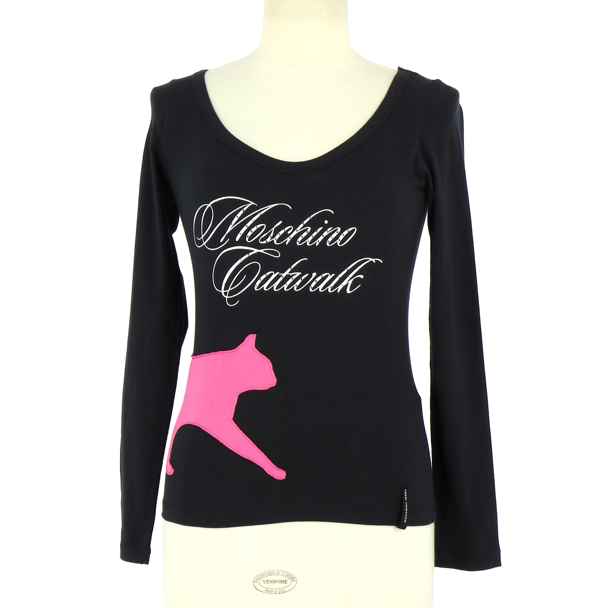 Top, tee-shirt MOSCHINO Noir