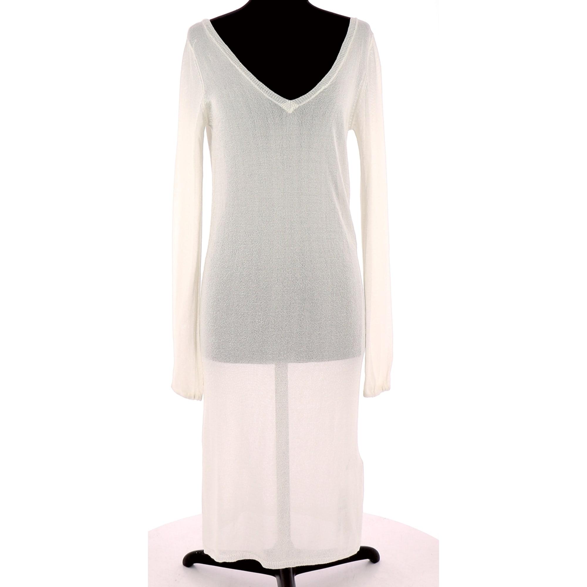 Midi-Kleid BEL AIR Weiß, elfenbeinfarben