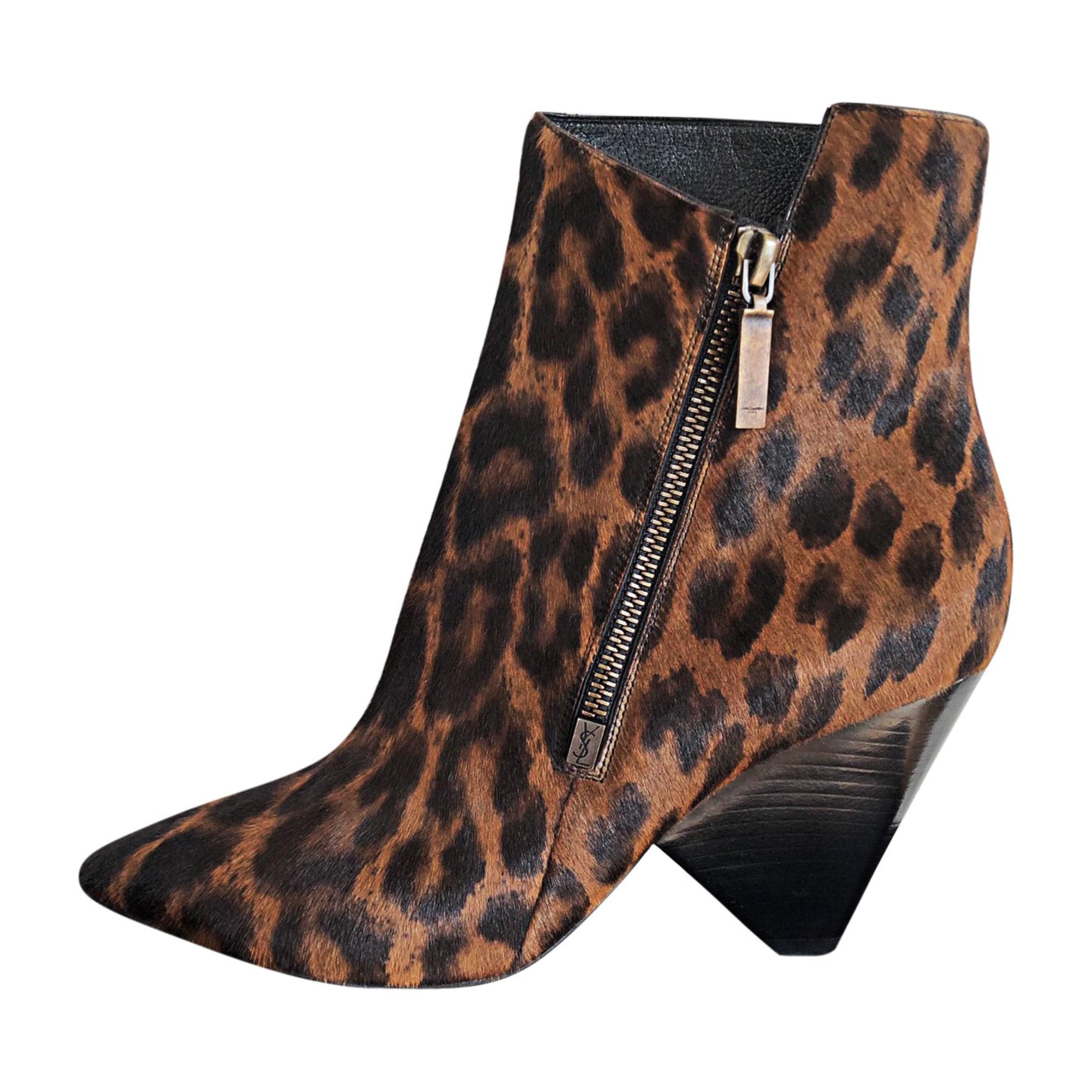 Bottines & low boots à talons SAINT LAURENT Imprimés animaliers