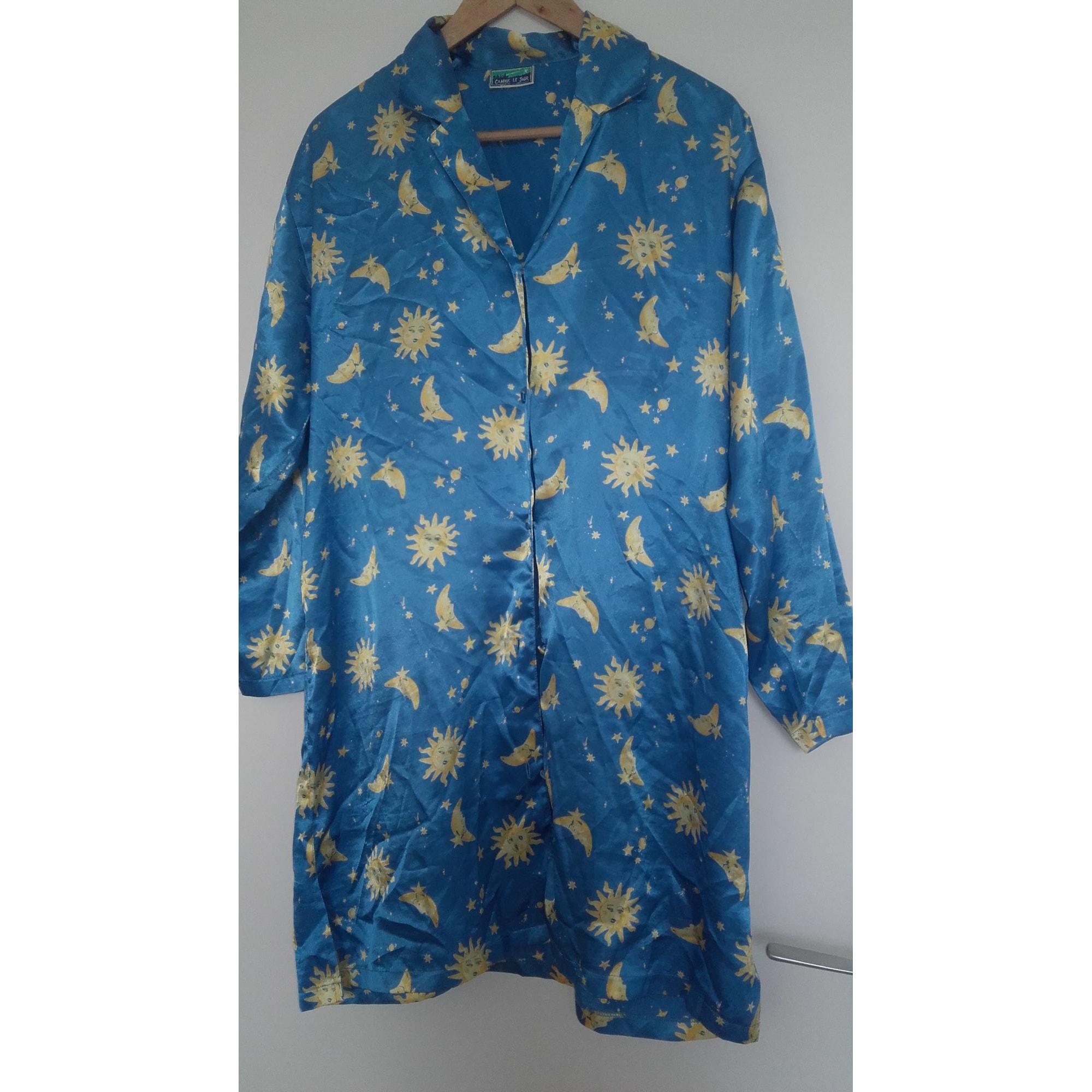 Robe de chambre COMME LE JOUR Bleu, bleu marine, bleu turquoise