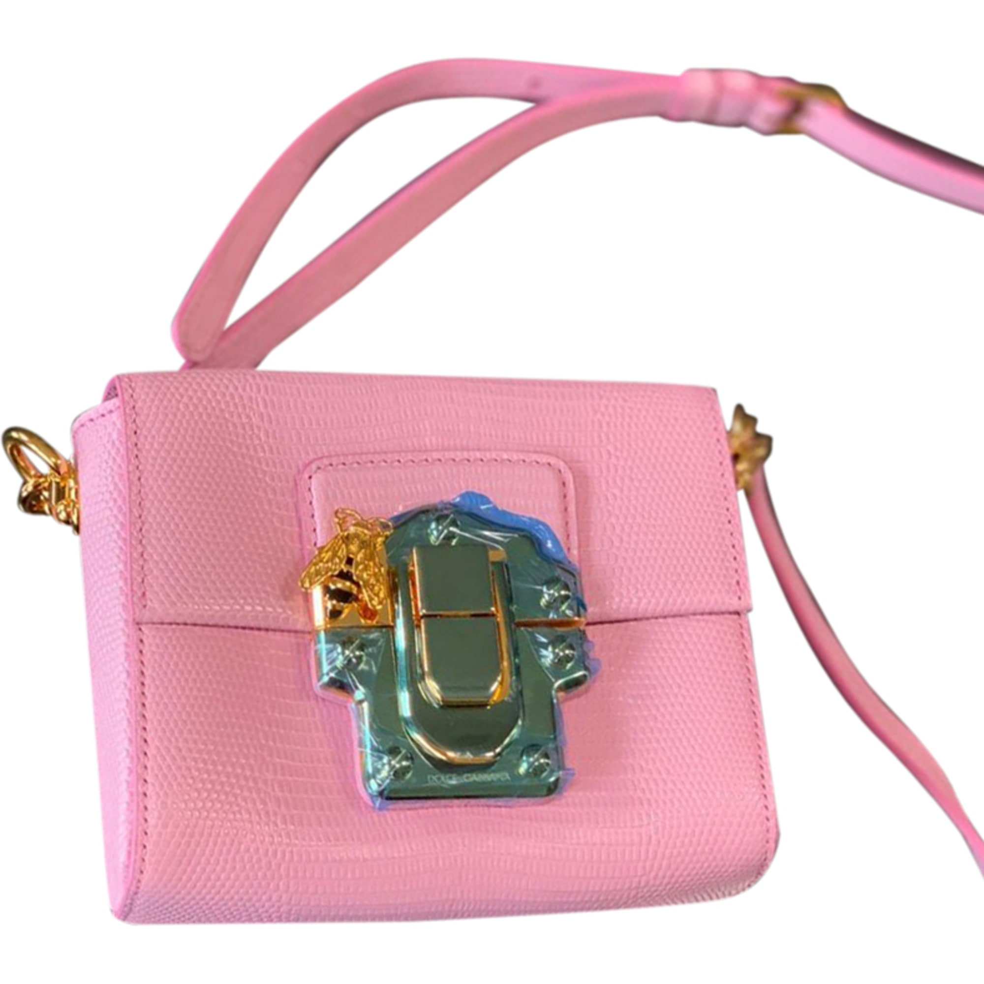 Leather Clutch DOLCE & GABBANA Pink, fuchsia, light pink