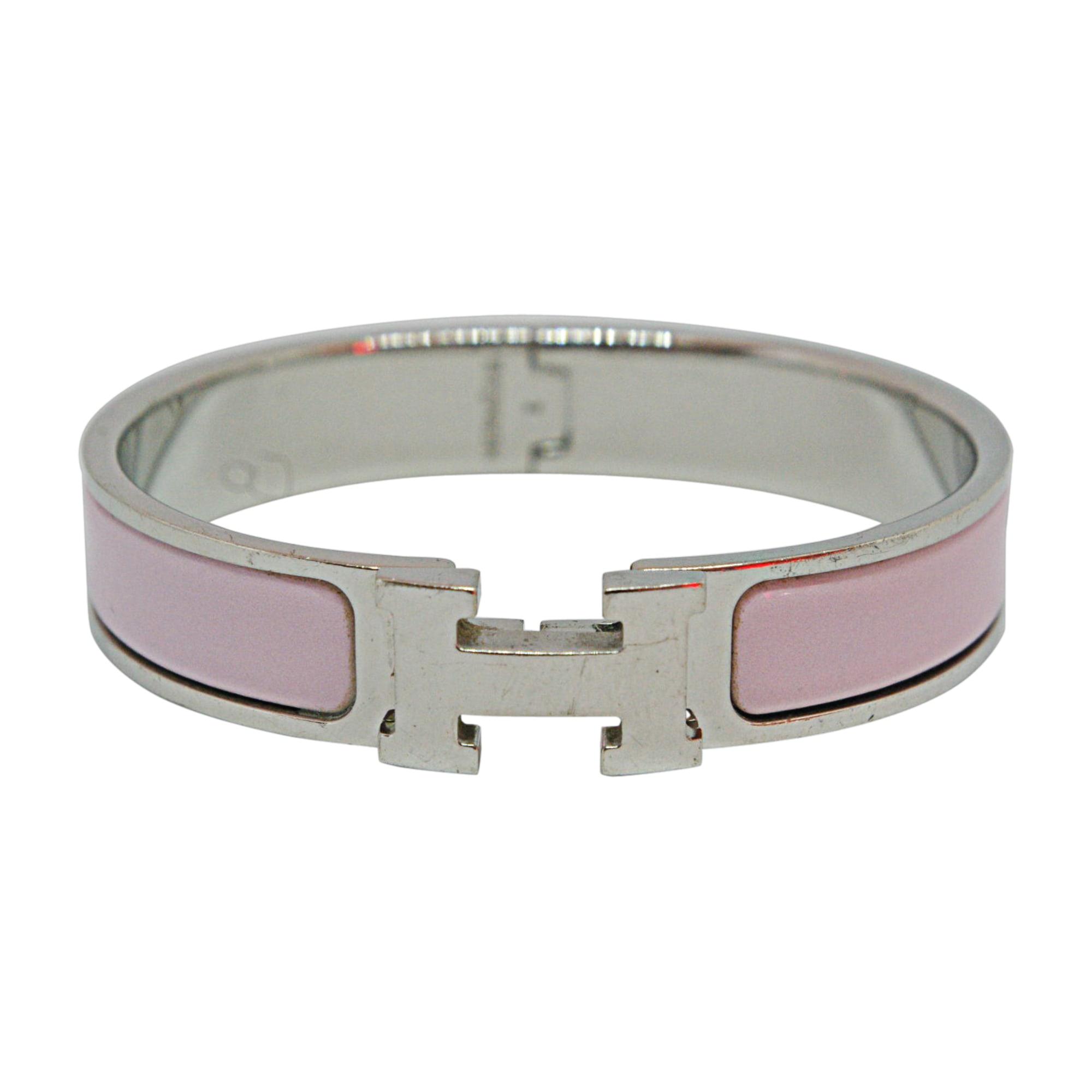 Bracelet HERMÈS Clic H Pink, fuchsia, light pink
