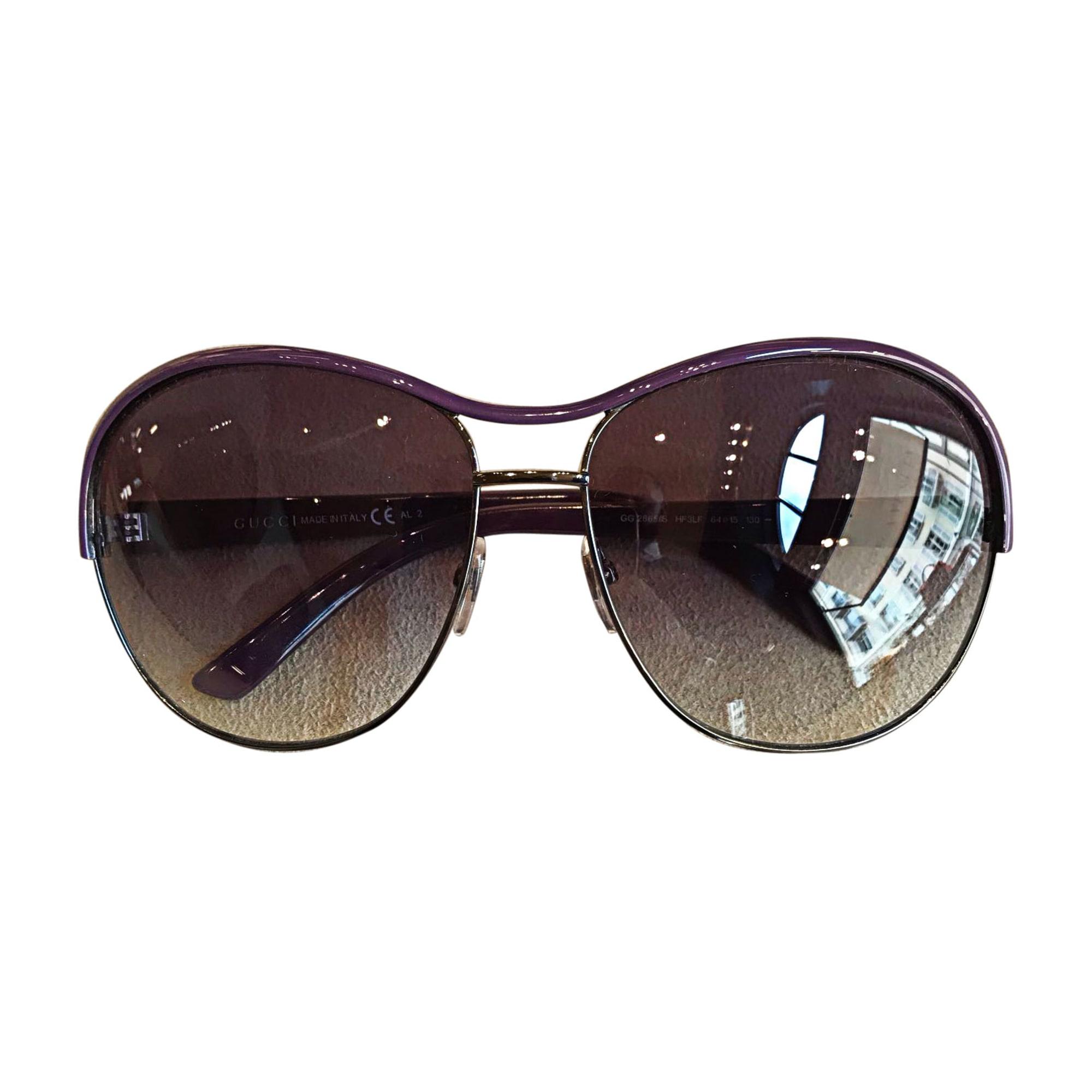 Sonnenbrille GUCCI Violett, malvenfarben, lavendelfarben