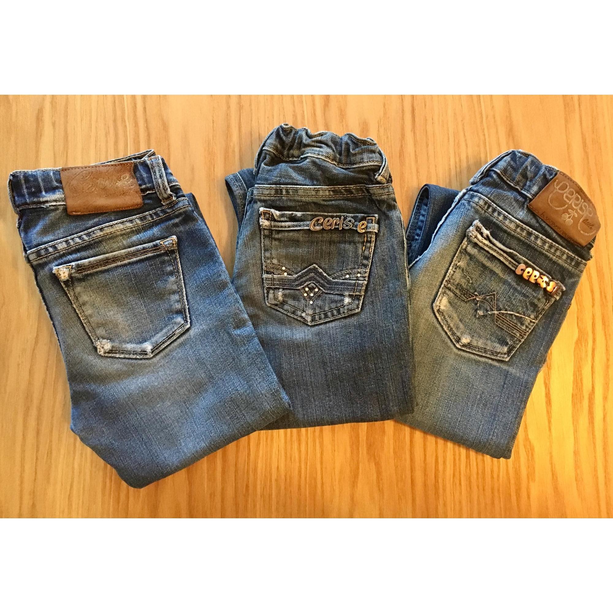 Jeans droit LE TEMPS DES CERISES denim, jean bleu 5-6 ans