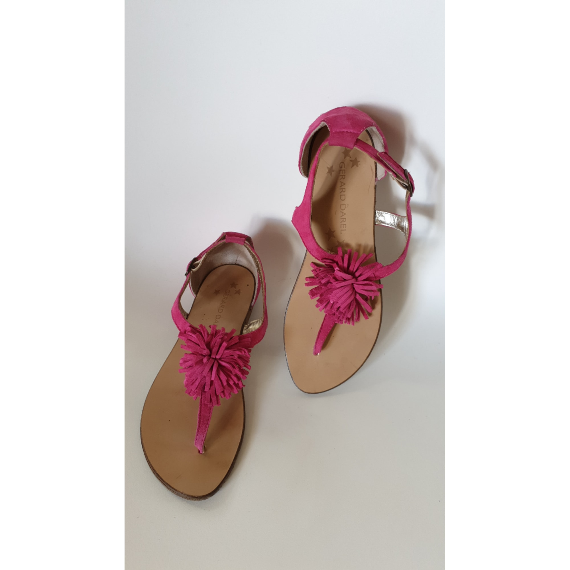 Sandales plates  GERARD DAREL Rose, fuschia, vieux rose