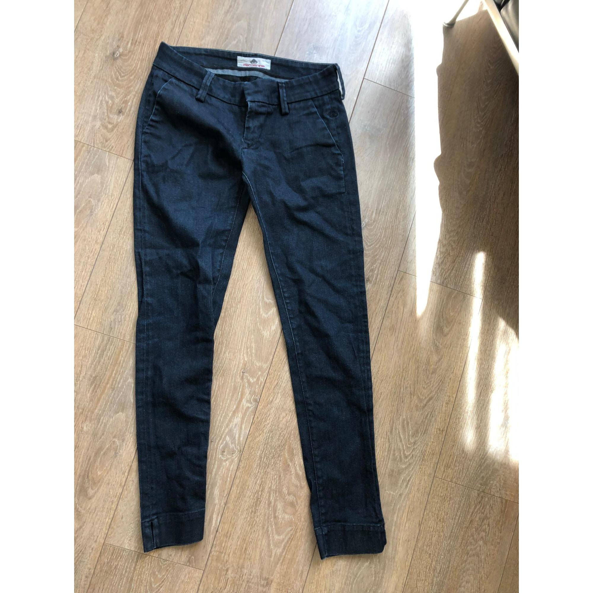 Jeans droit FORNARINA Bleu, bleu marine, bleu turquoise