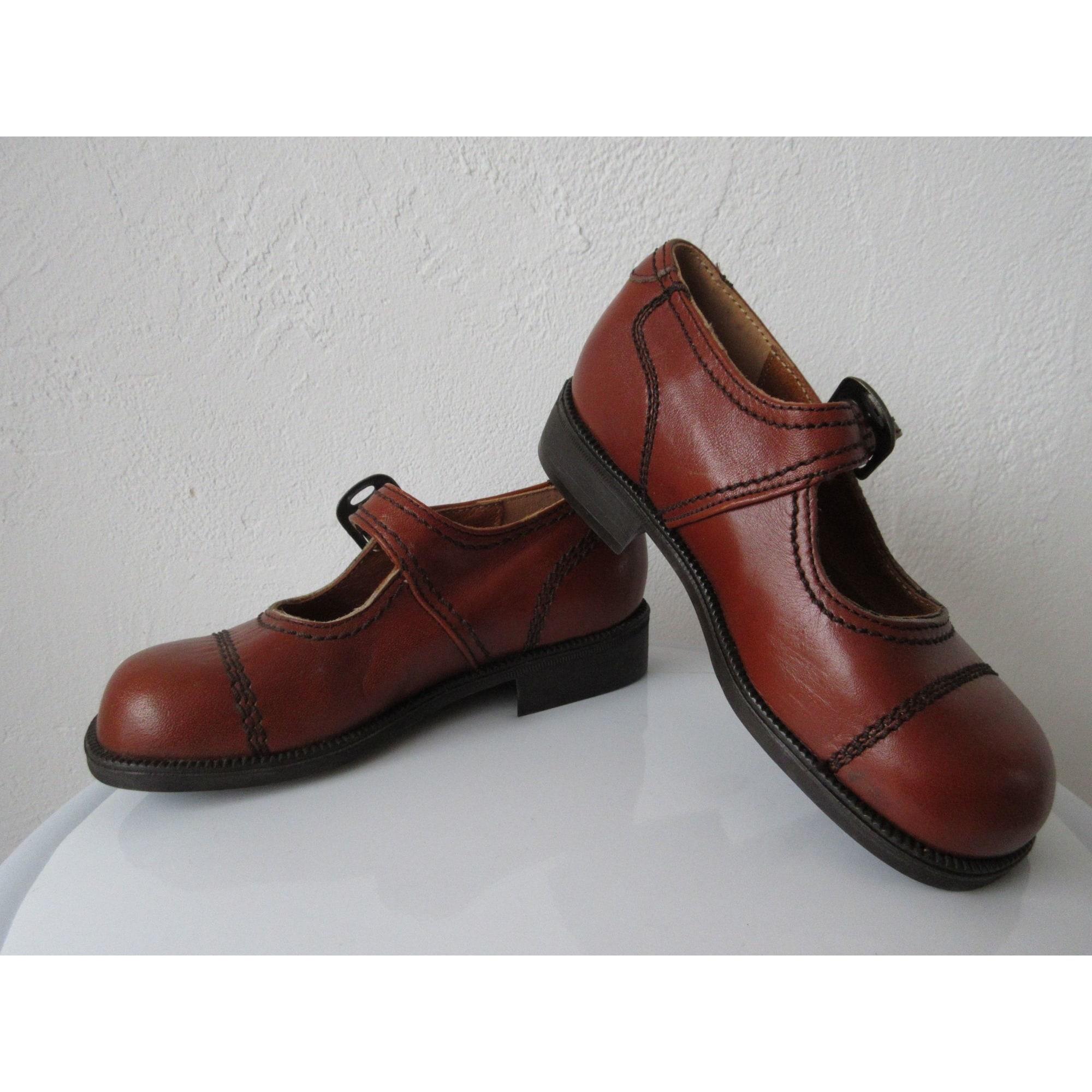 Chaussures à boucle LE LOUP BLANC Marron