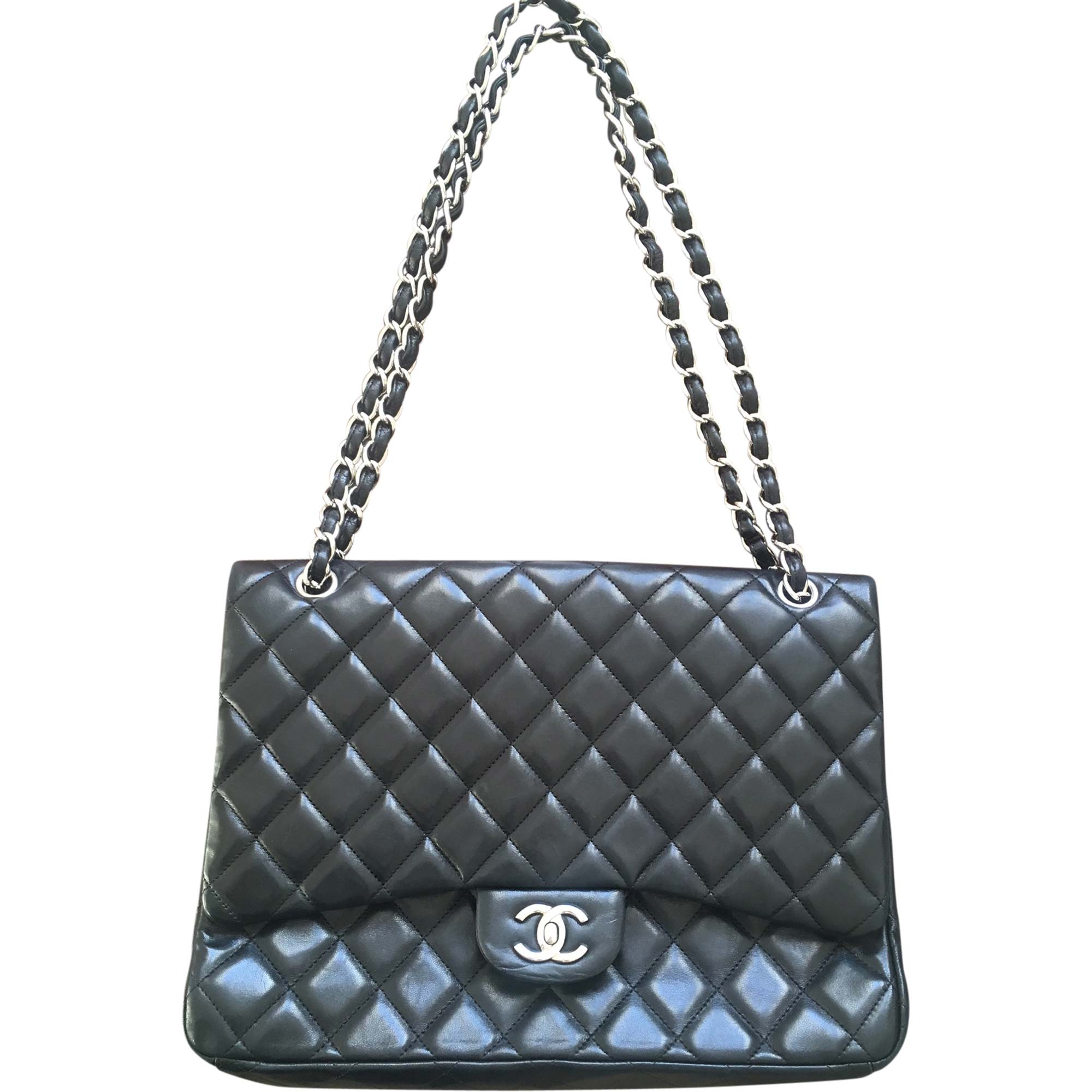 Leather Shoulder Bag CHANEL Timeless Black