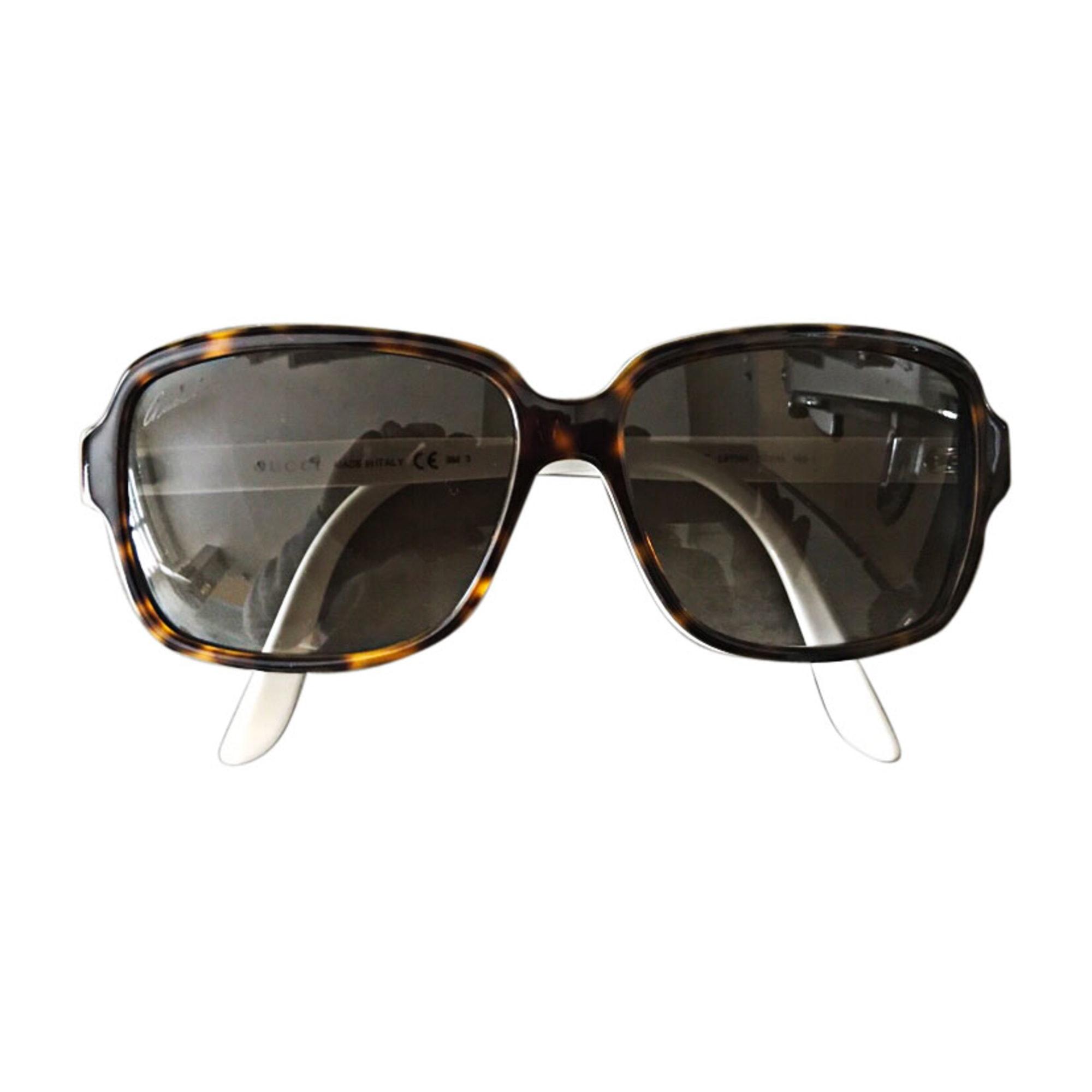 Sonnenbrille GUCCI Marron / blanc