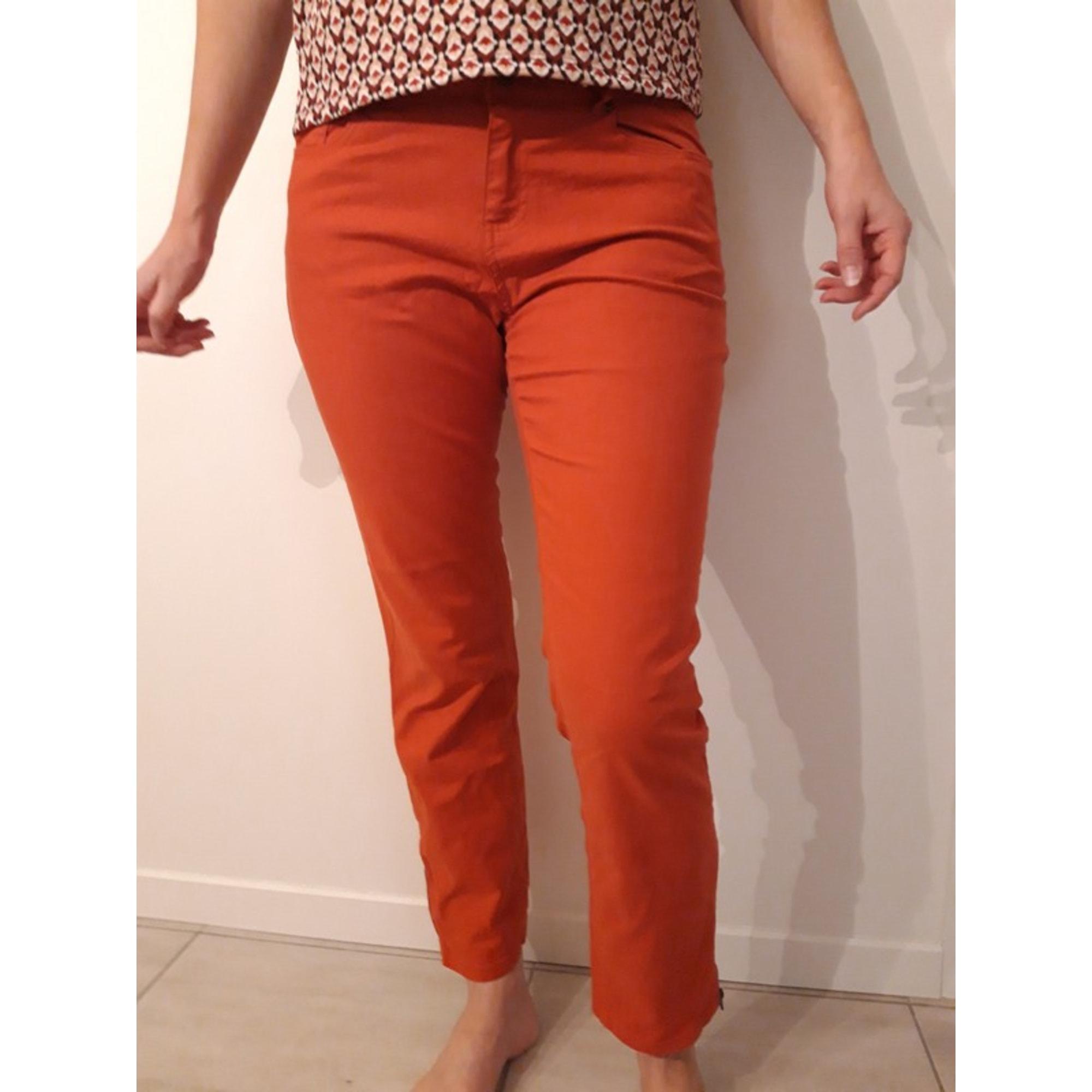 Jeans droit LA REDOUTE Rouge, bordeaux