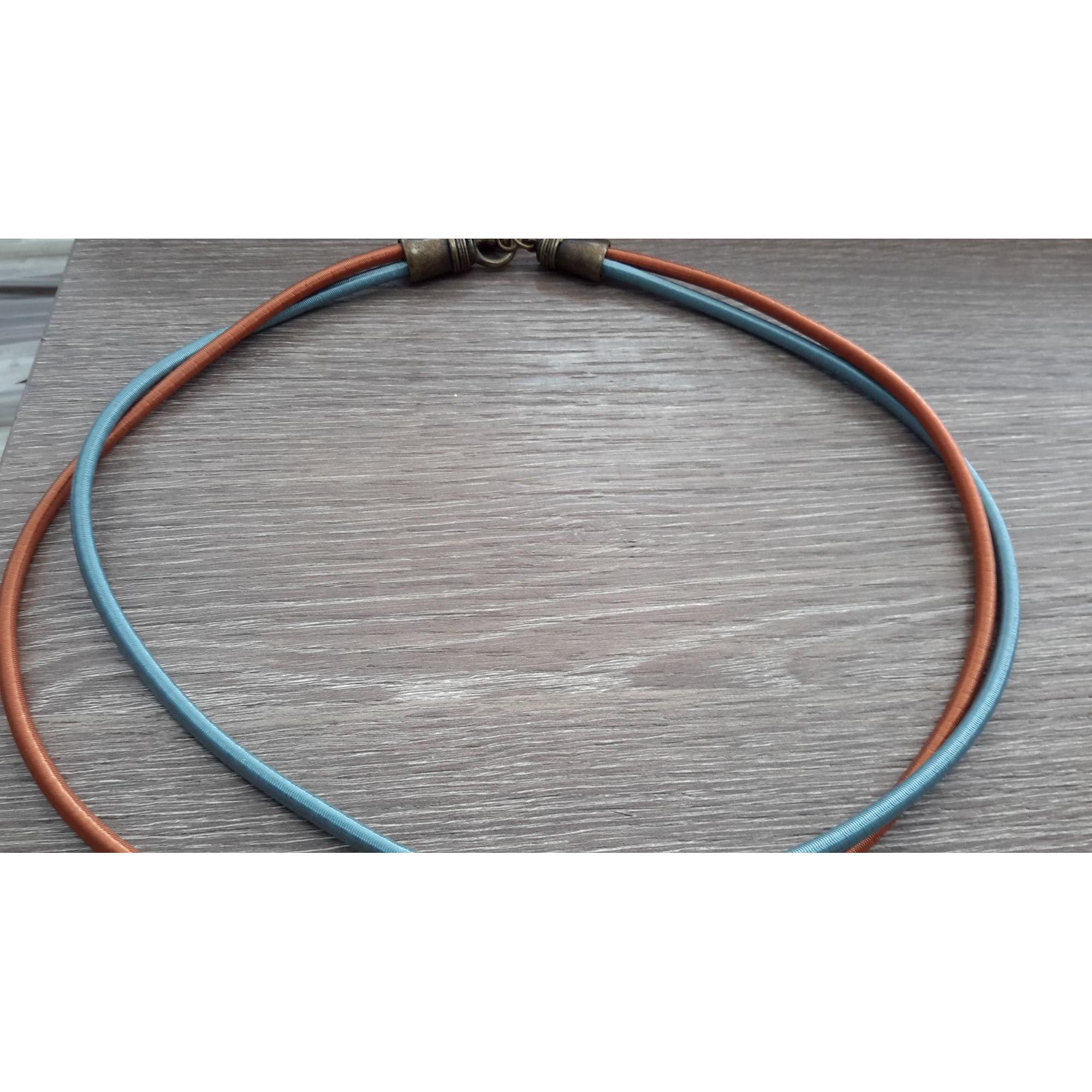 Collier LA TRIBU RIGAUX caoutchouc multicolore