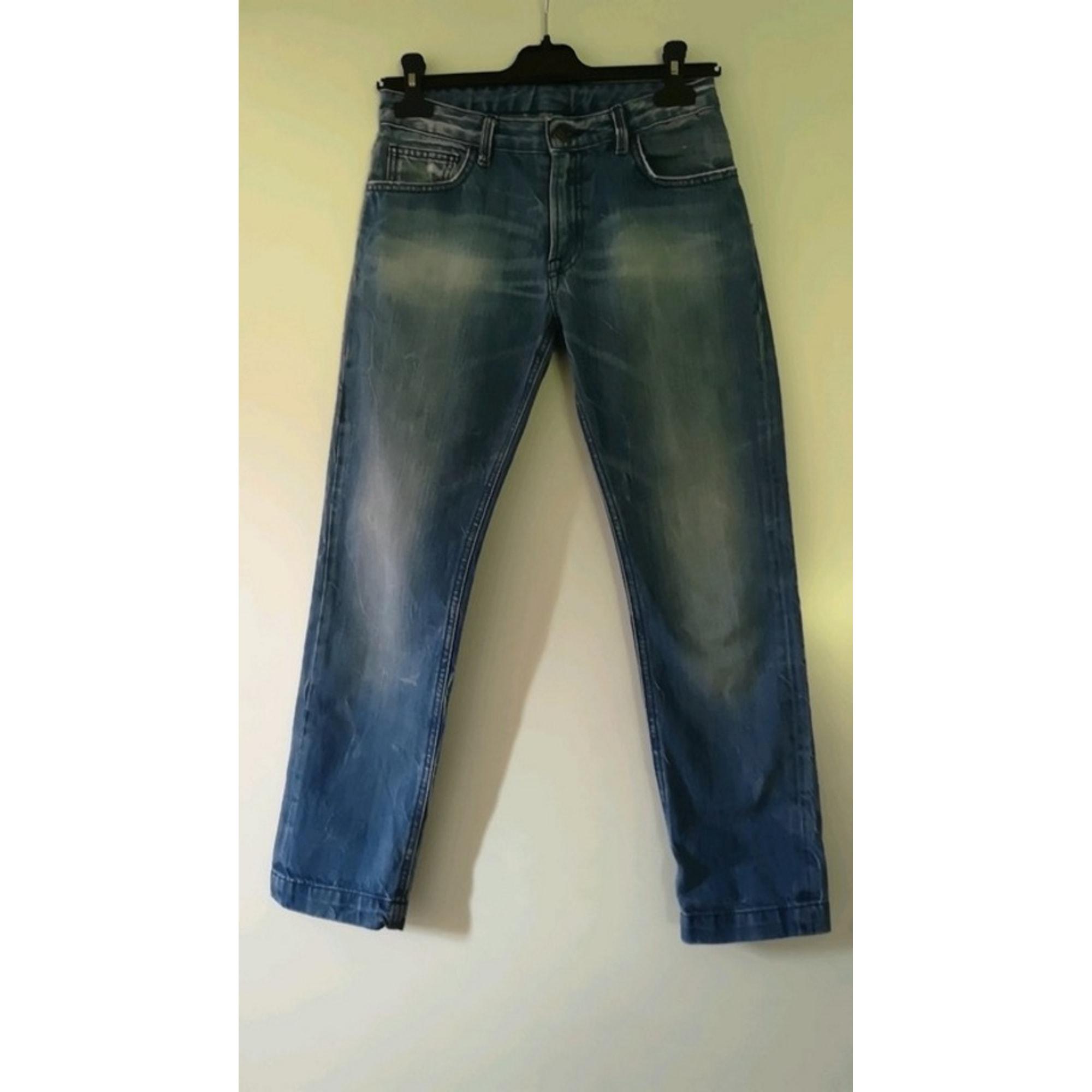 Jeans droit LE TEMPS DES CERISES coton bleu 11-12 ans
