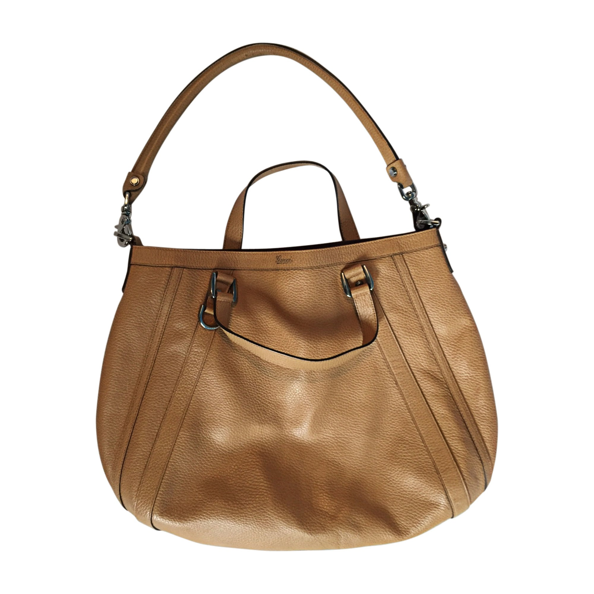 Leather Handbag GUCCI Beige, camel