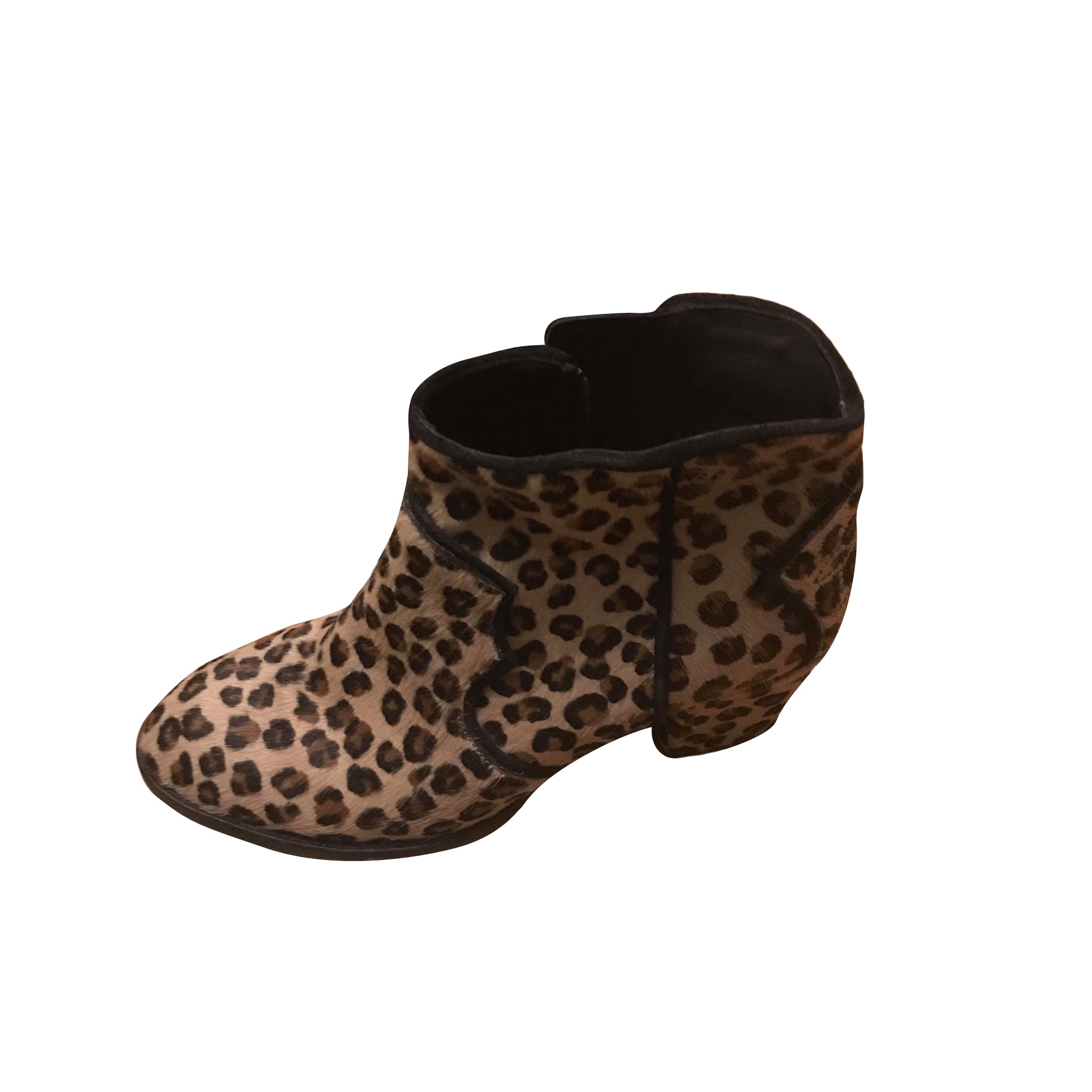 High Heel Ankle Boots ZADIG & VOLTAIRE Leopard