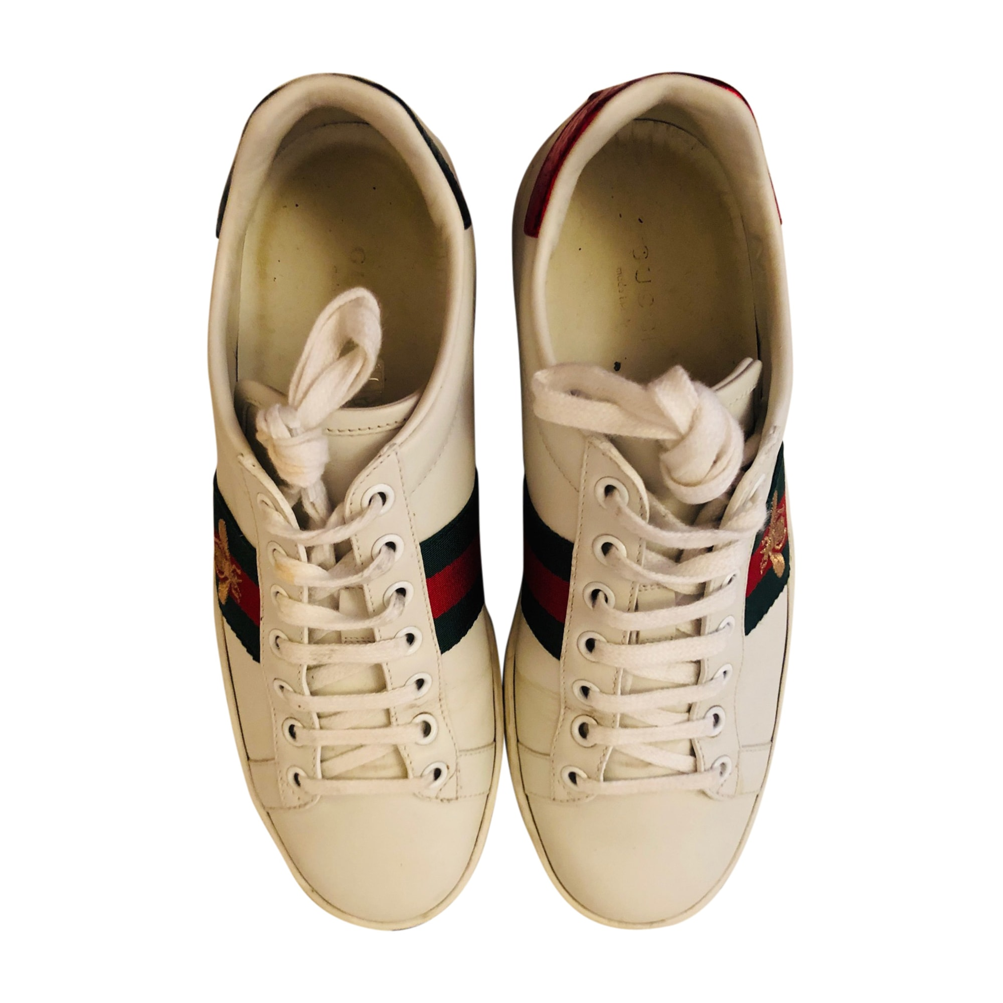 Sneakers GUCCI Ace White, off-white, ecru