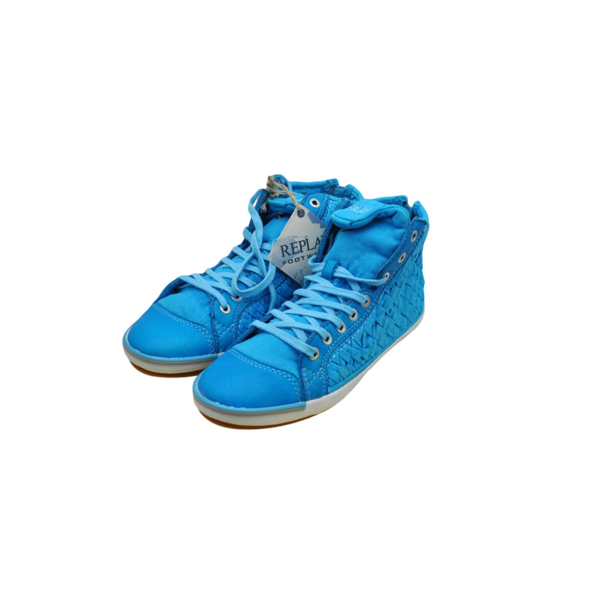 Baskets REPLAY Bleu, bleu marine, bleu turquoise