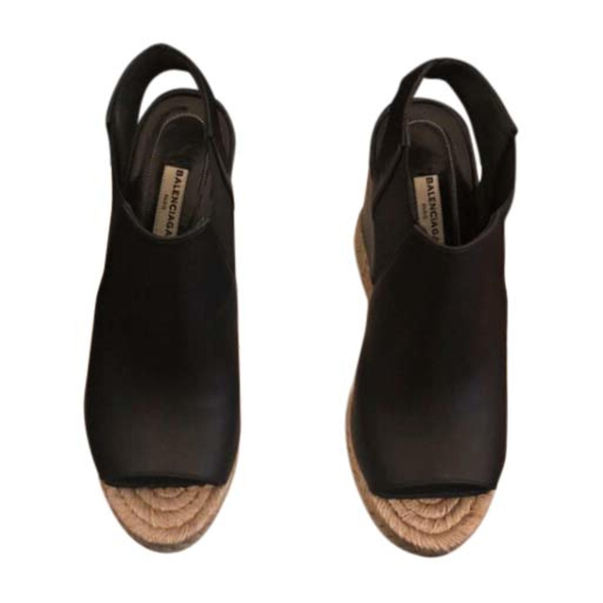 Sandales compensées BALENCIAGA Noir