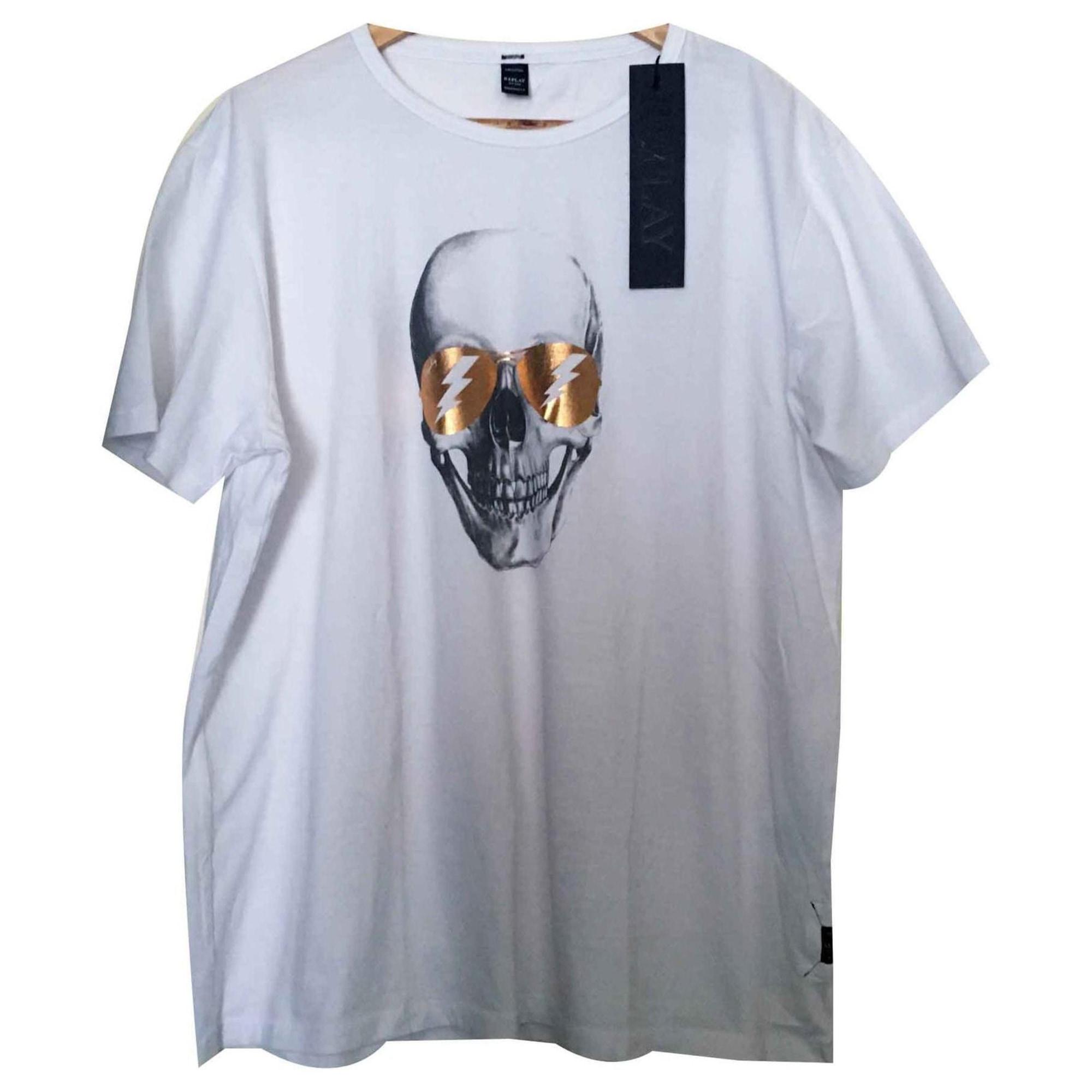Tee-shirt REPLAY Blanc, blanc cassé, écru